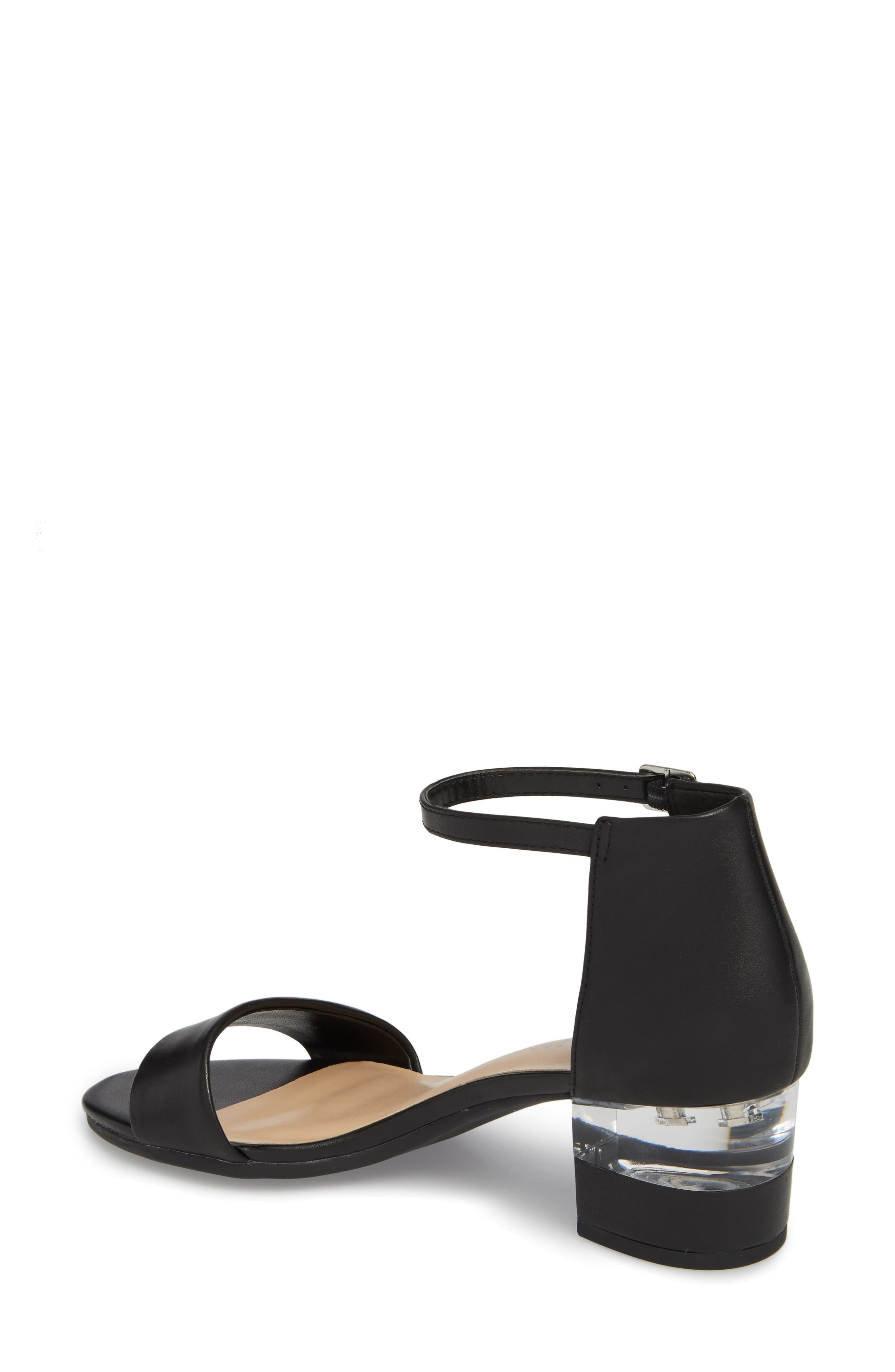 Fitz Block Heel Sandal,                             Alternate thumbnail 2, color,                             BLACK LEATHER