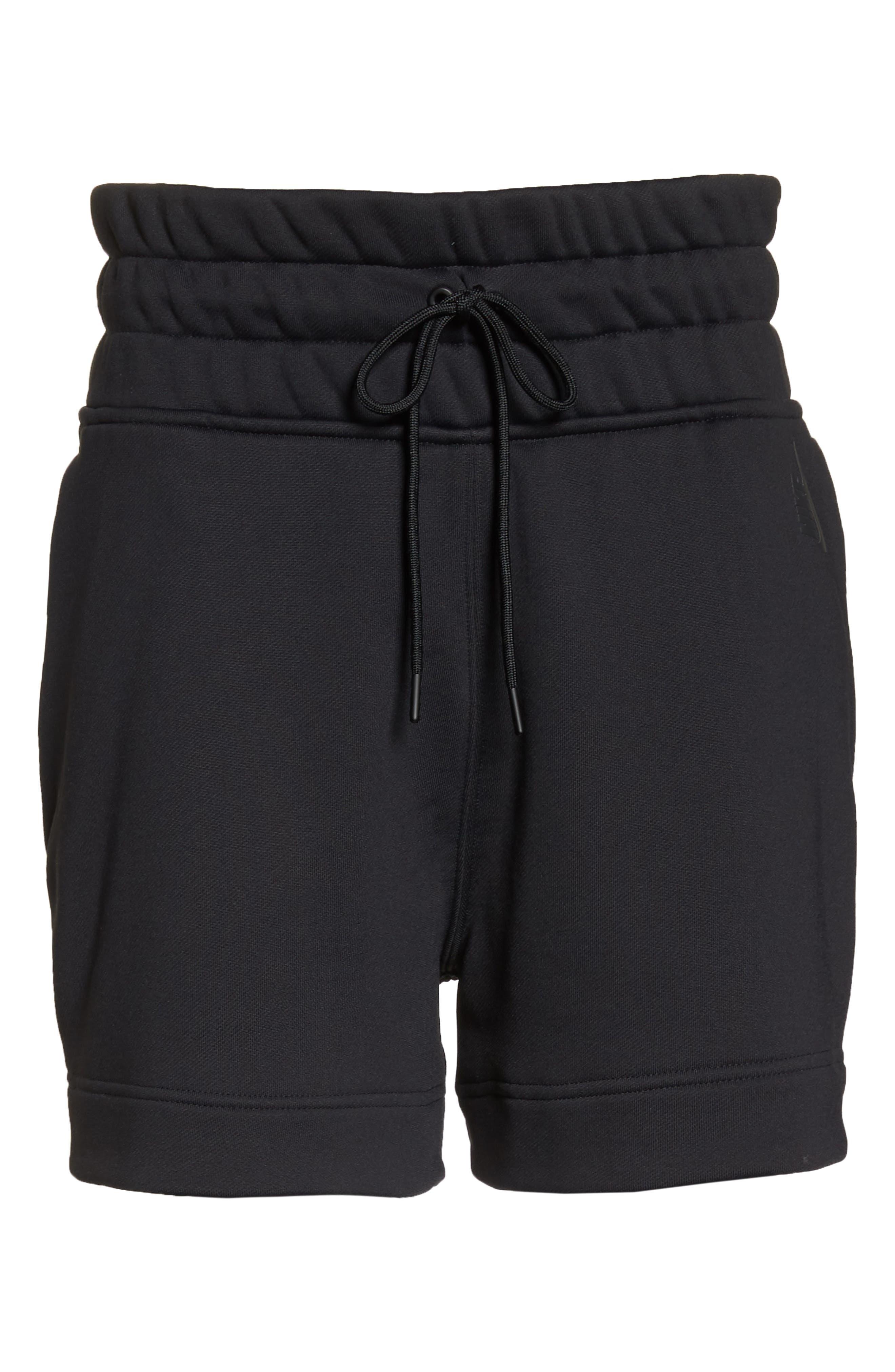 NikeLab Collection Women's Fleece Shorts,                             Alternate thumbnail 7, color,                             BLACK/ BLACK