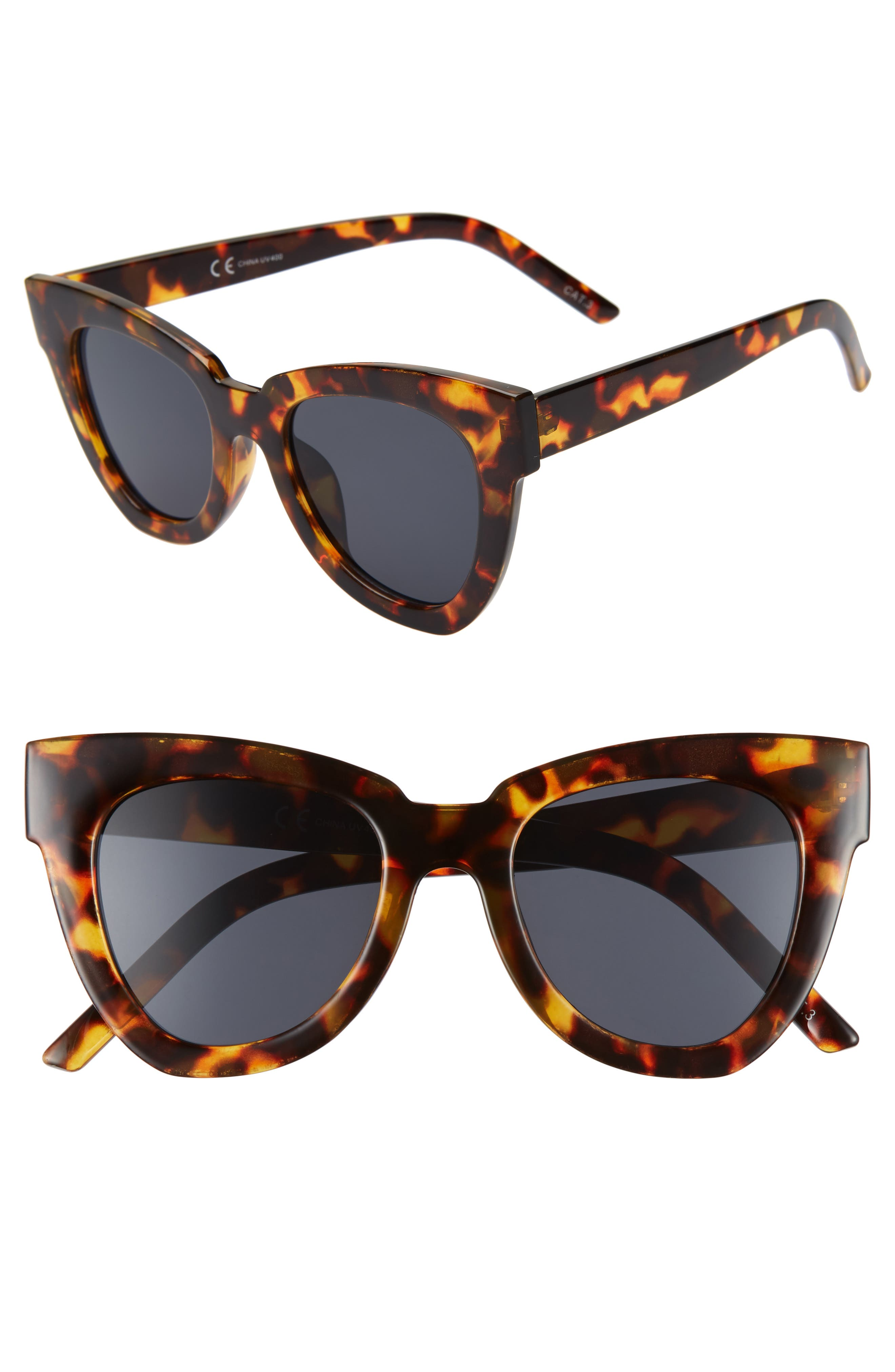 SHADY LADY,                             Hayley 50mm Cat Eye Sunglasses,                             Main thumbnail 1, color,                             TORTOISE