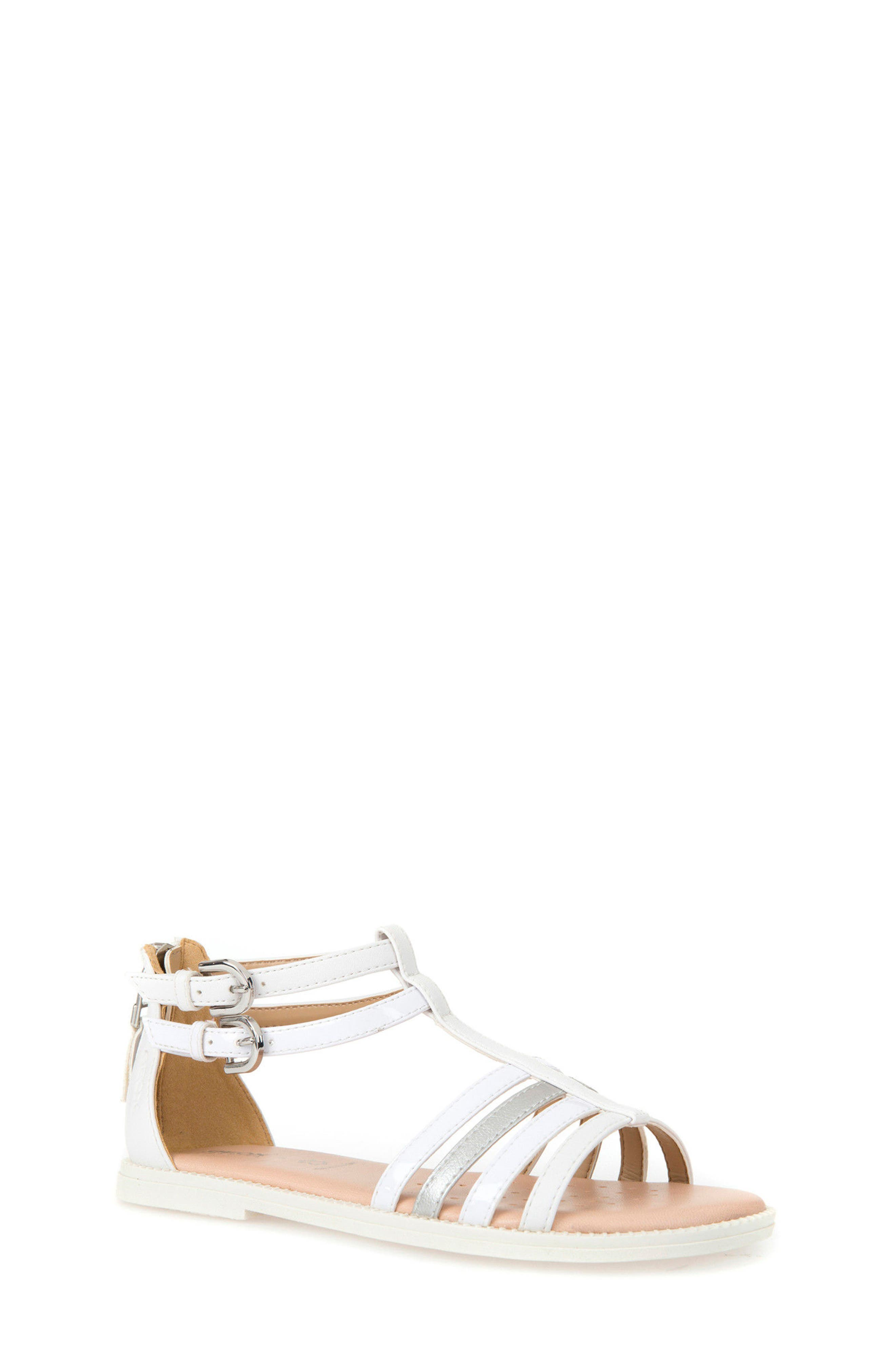 Karly Sandal,                         Main,                         color, WHITE