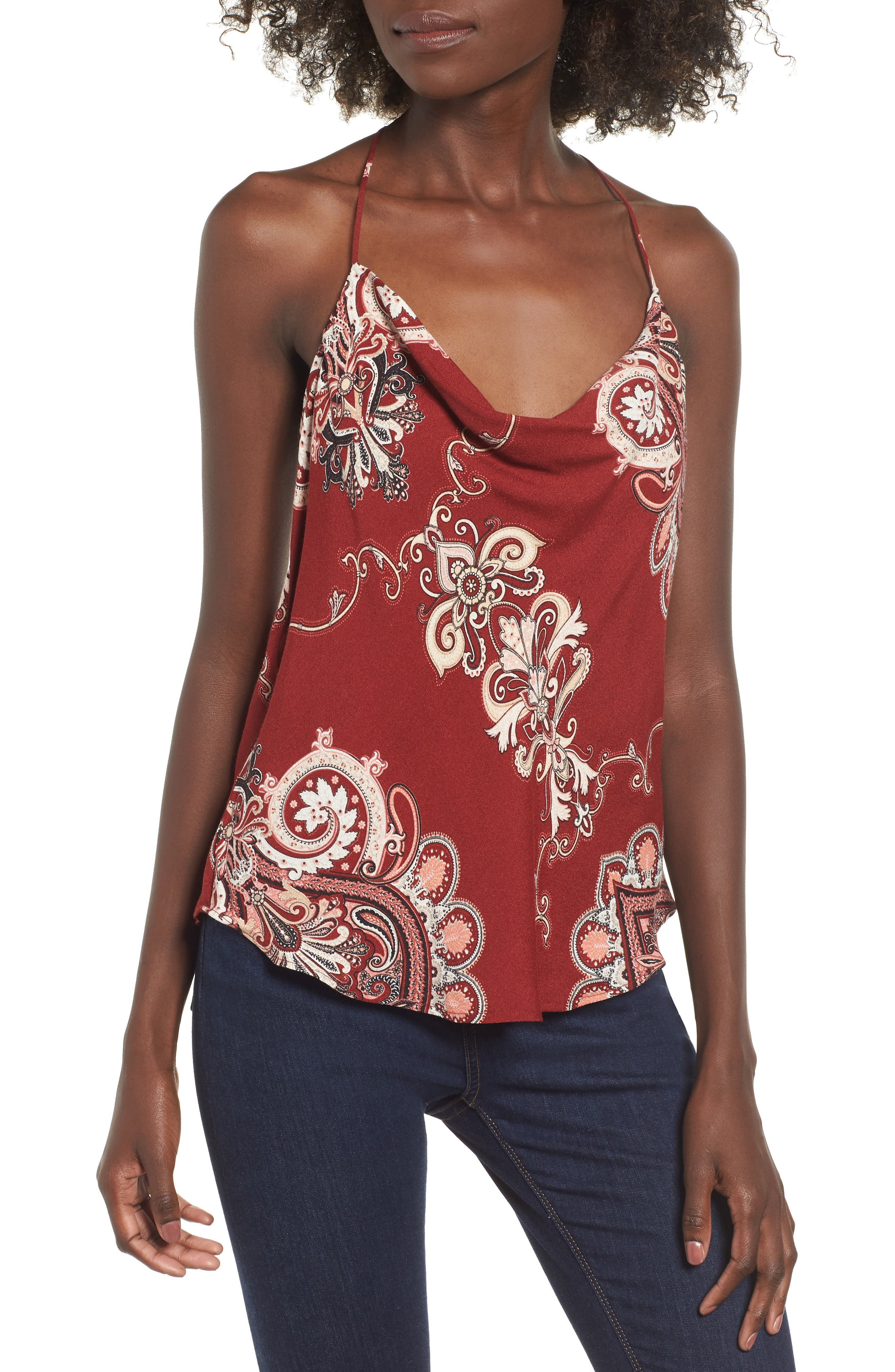 Afrm Finn T-Back Camisole, Red