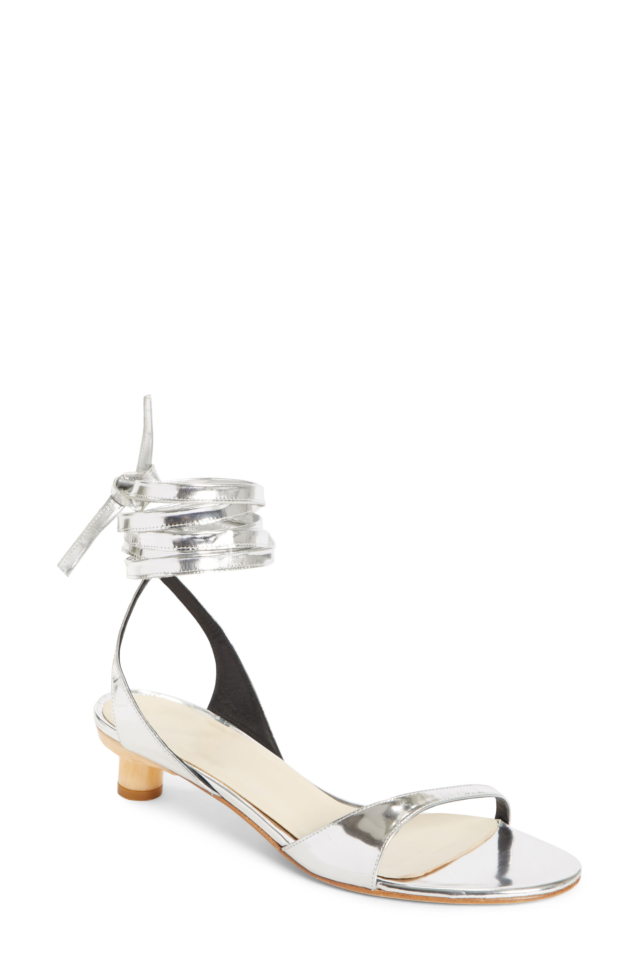 TIBI Scott Ankle Tie Sandal, Main, color, 042