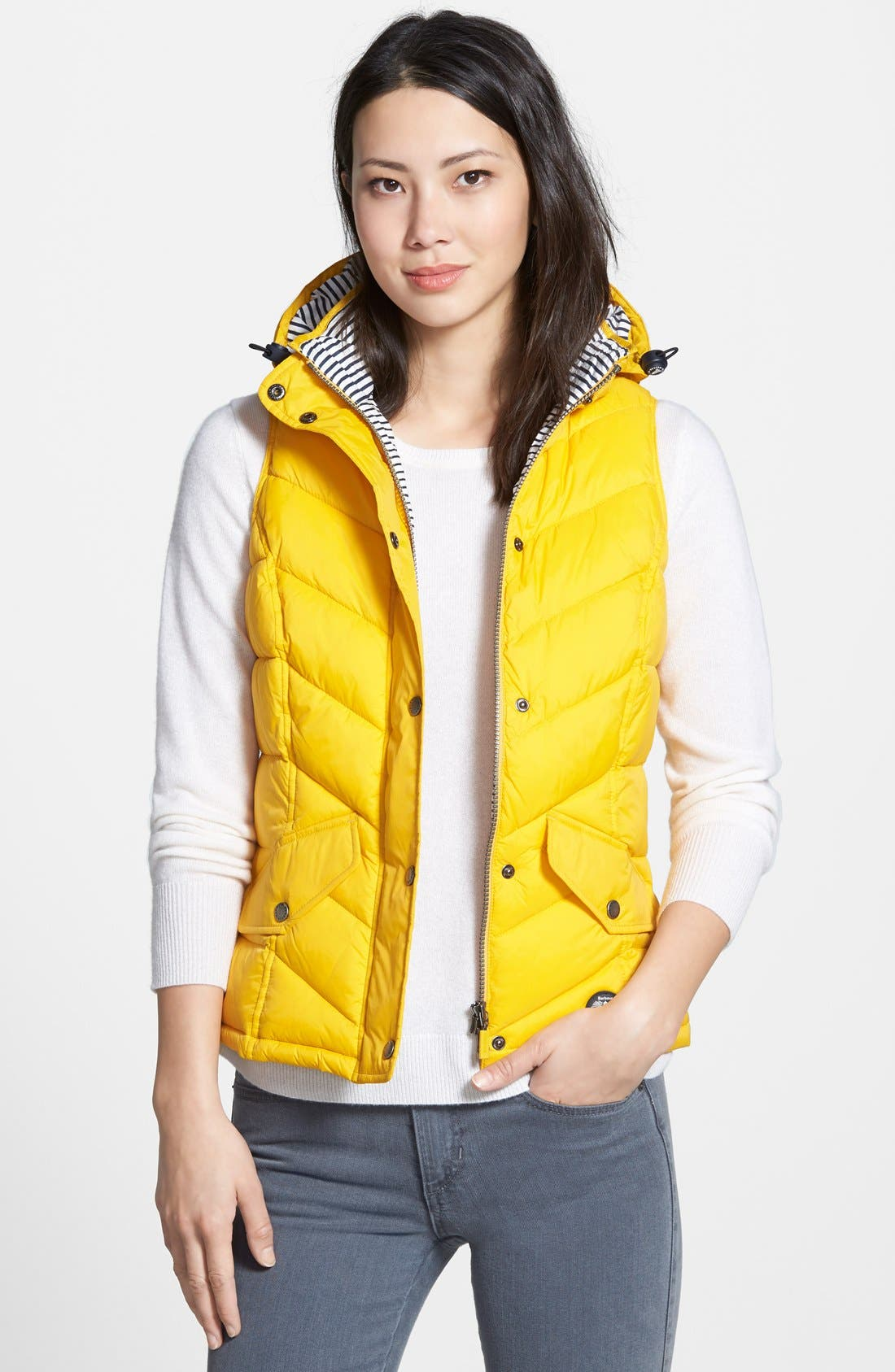 'Forland' Hooded Quilted Vest, Main, color, 700