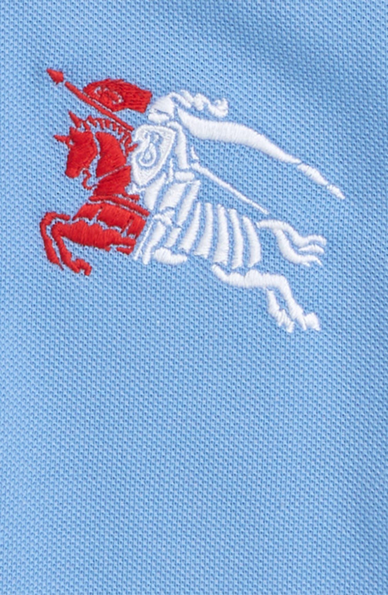 Stripe Detail Polo,                             Alternate thumbnail 2, color,                             HYDRANGEA BLUE