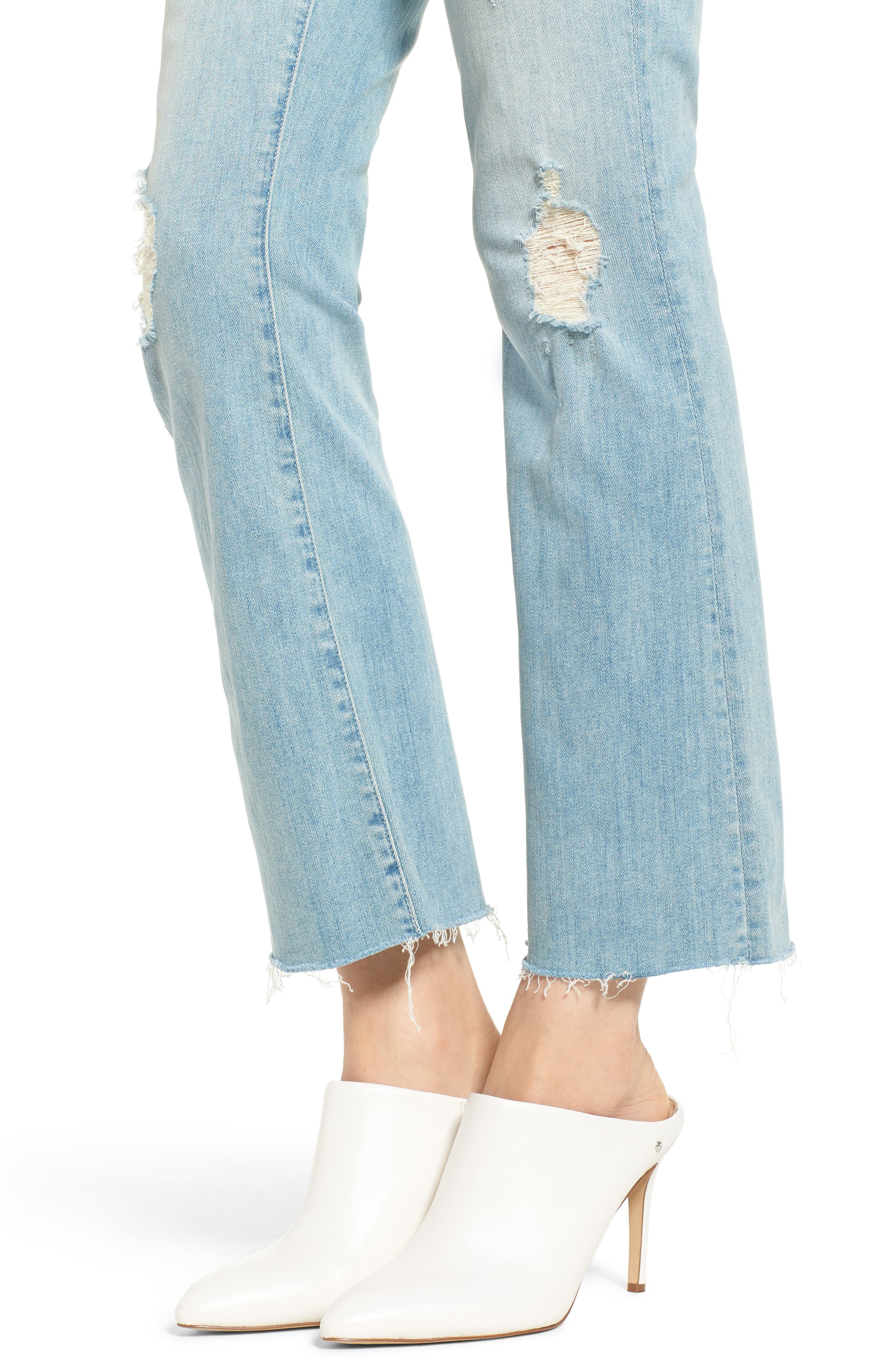 The Hustler Frayed Ankle Jeans,                             Alternate thumbnail 4, color,                             453