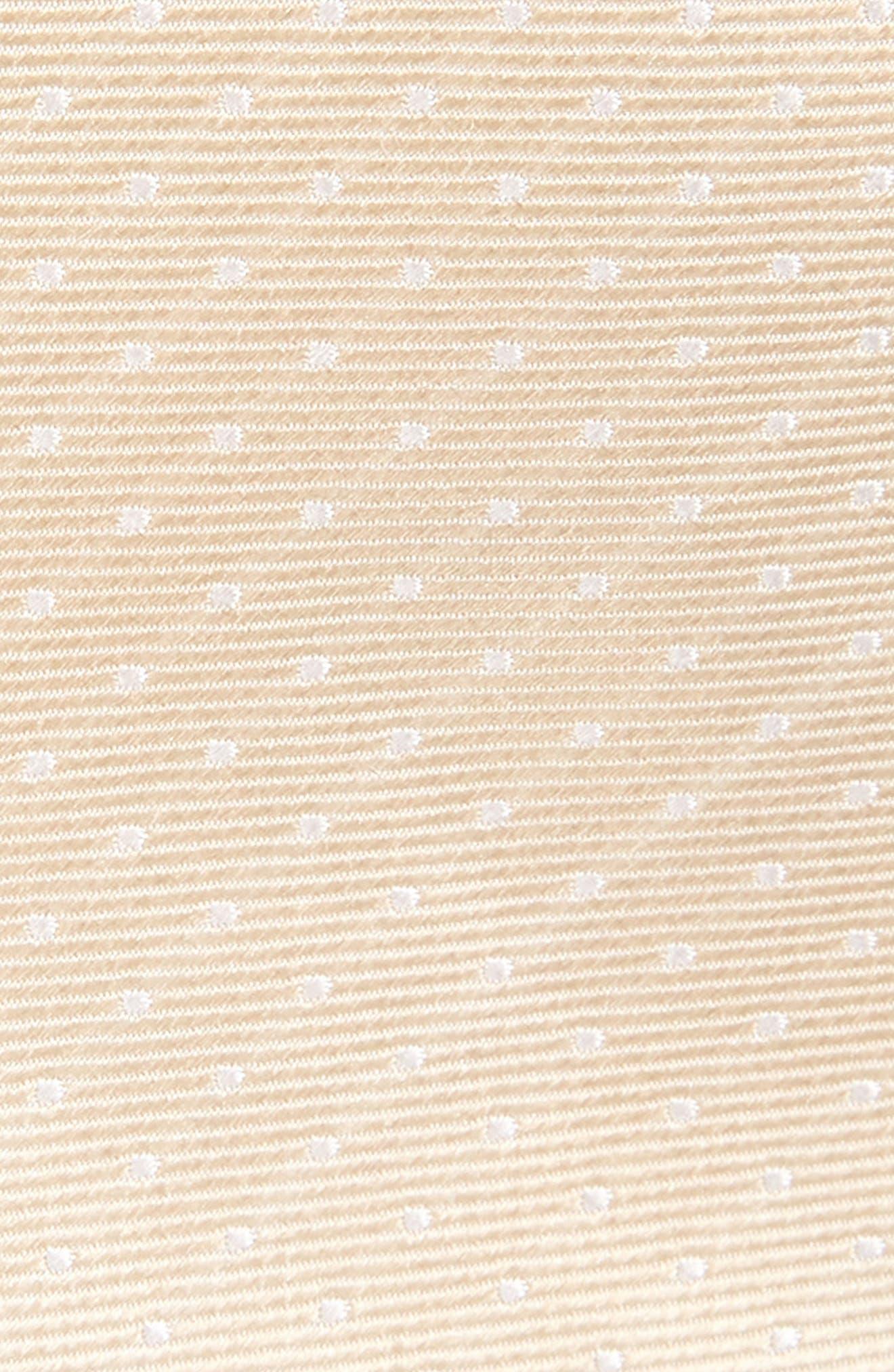 Dot Silk Tie,                             Alternate thumbnail 2, color,                             LIGHT CHAMPAGNE