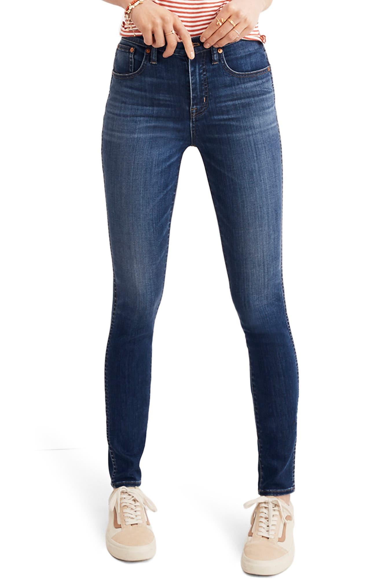 10-Inch High Rise Skinny Jeans,                             Main thumbnail 1, color,                             DANNY