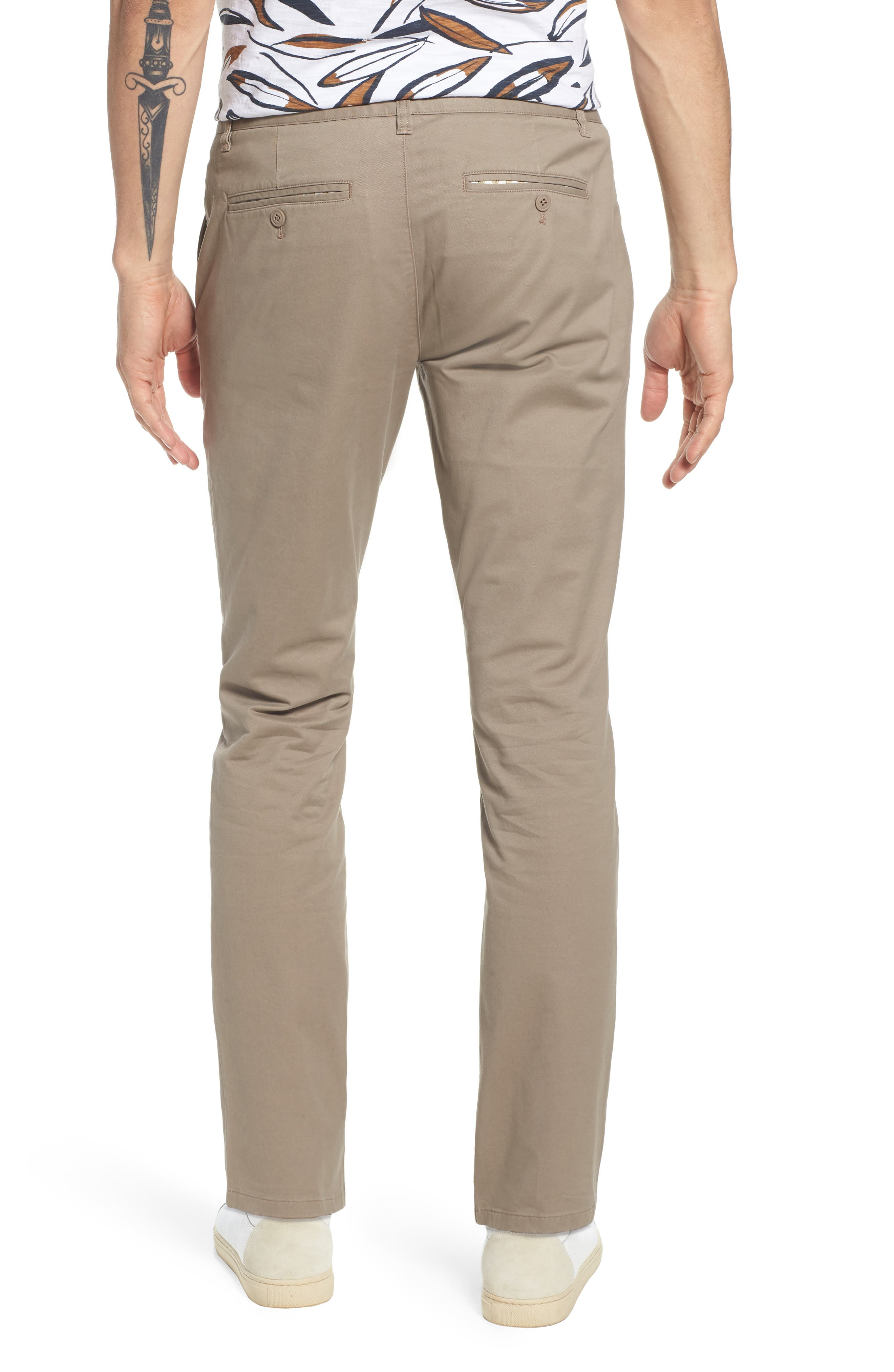 Tailored Fit Washed Stretch Cotton Chinos,                             Alternate thumbnail 39, color,