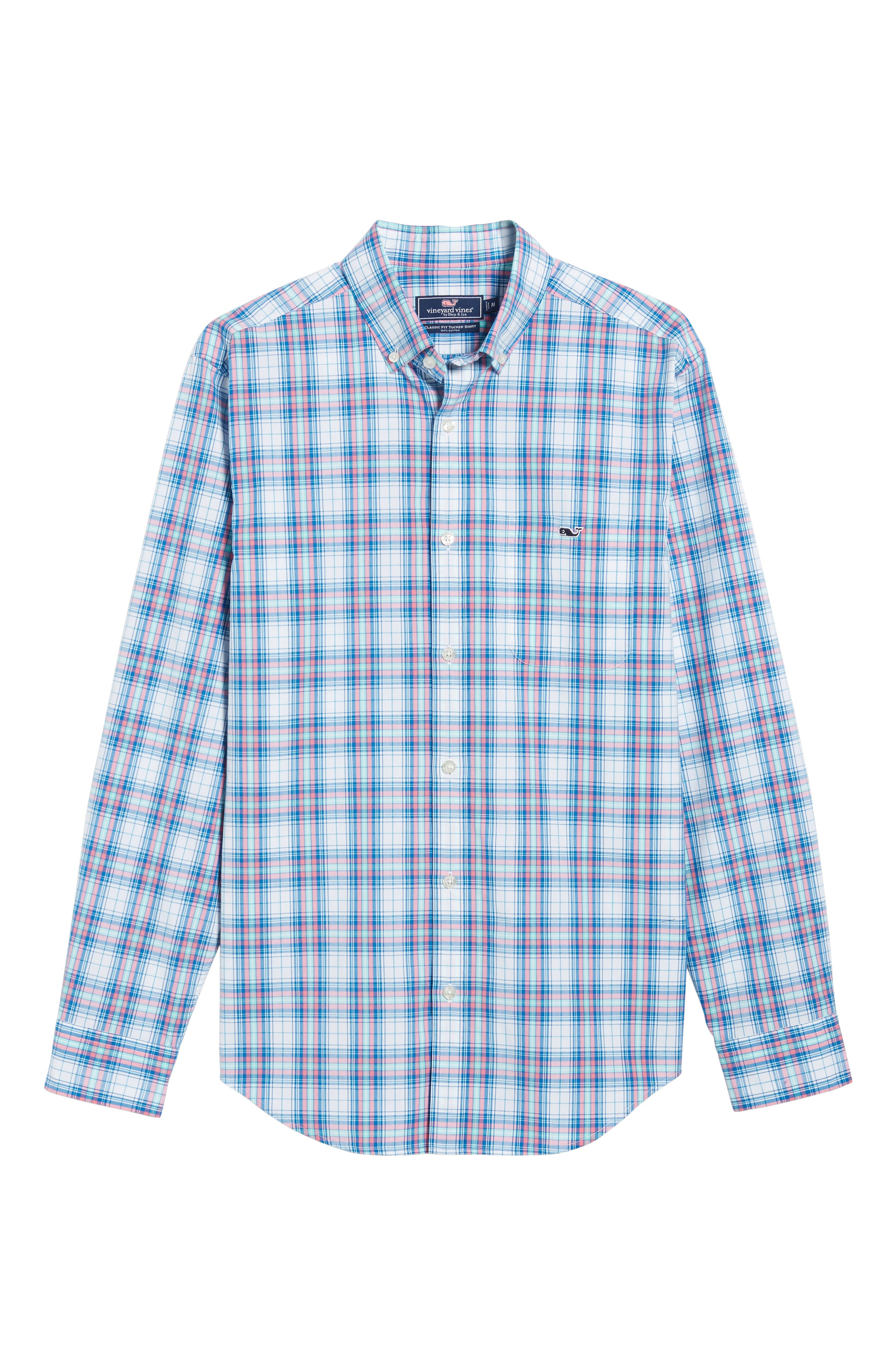 Tucker Sunset Pines Classic Fit Plaid Sport Shirt,                             Alternate thumbnail 6, color,                             650