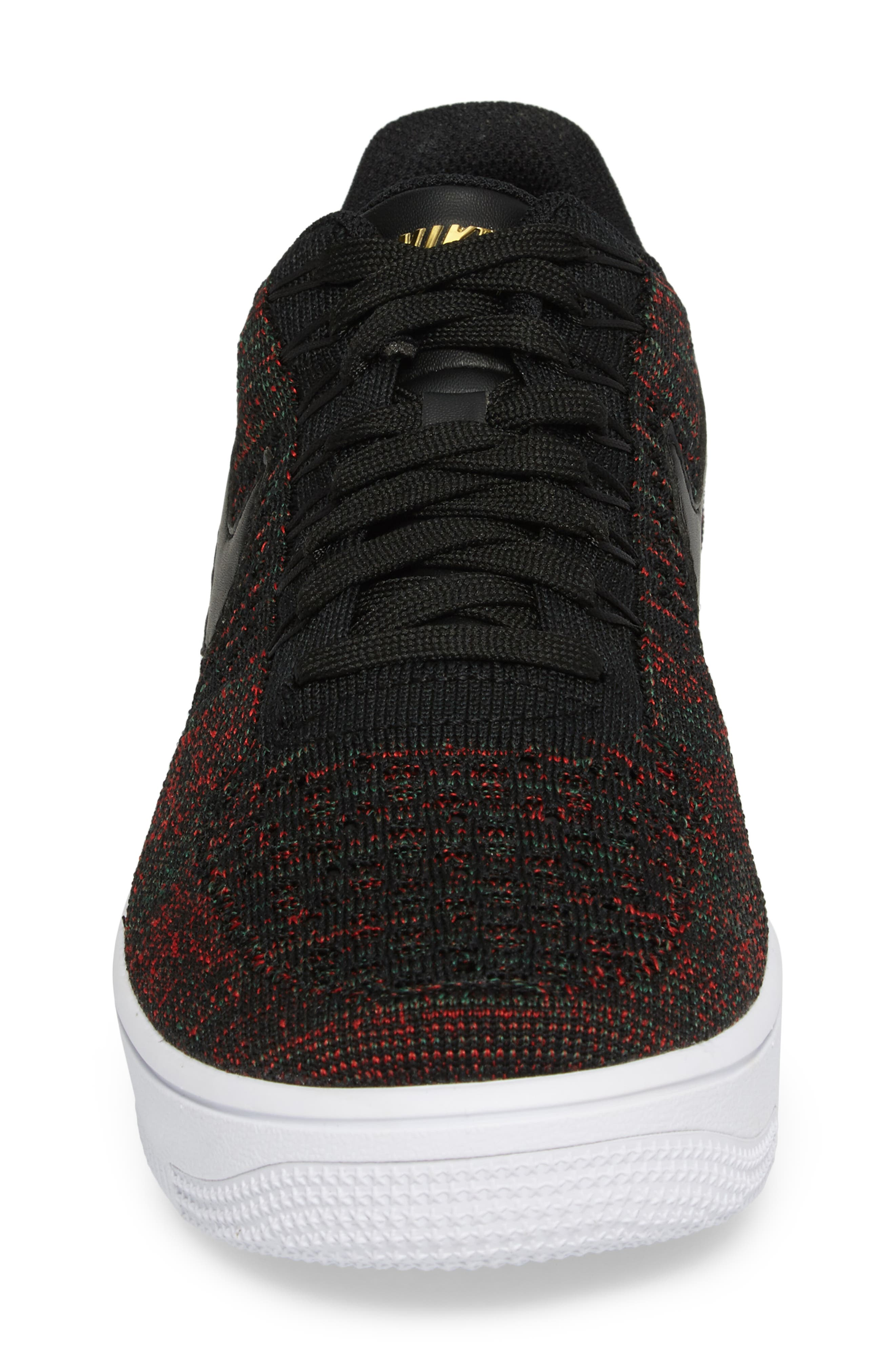 Air Force 1 Ultra Flyknit Low Sneaker,                             Alternate thumbnail 4, color,                             005