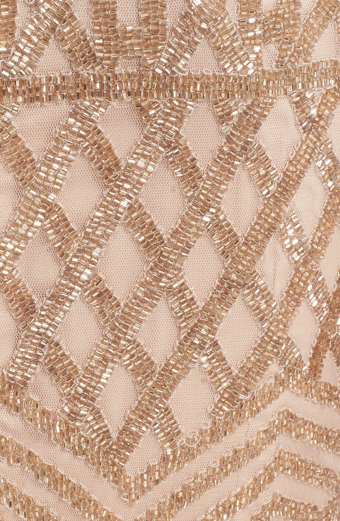 Beaded High Neck Sheath Dress,                             Alternate thumbnail 3, color,                             710