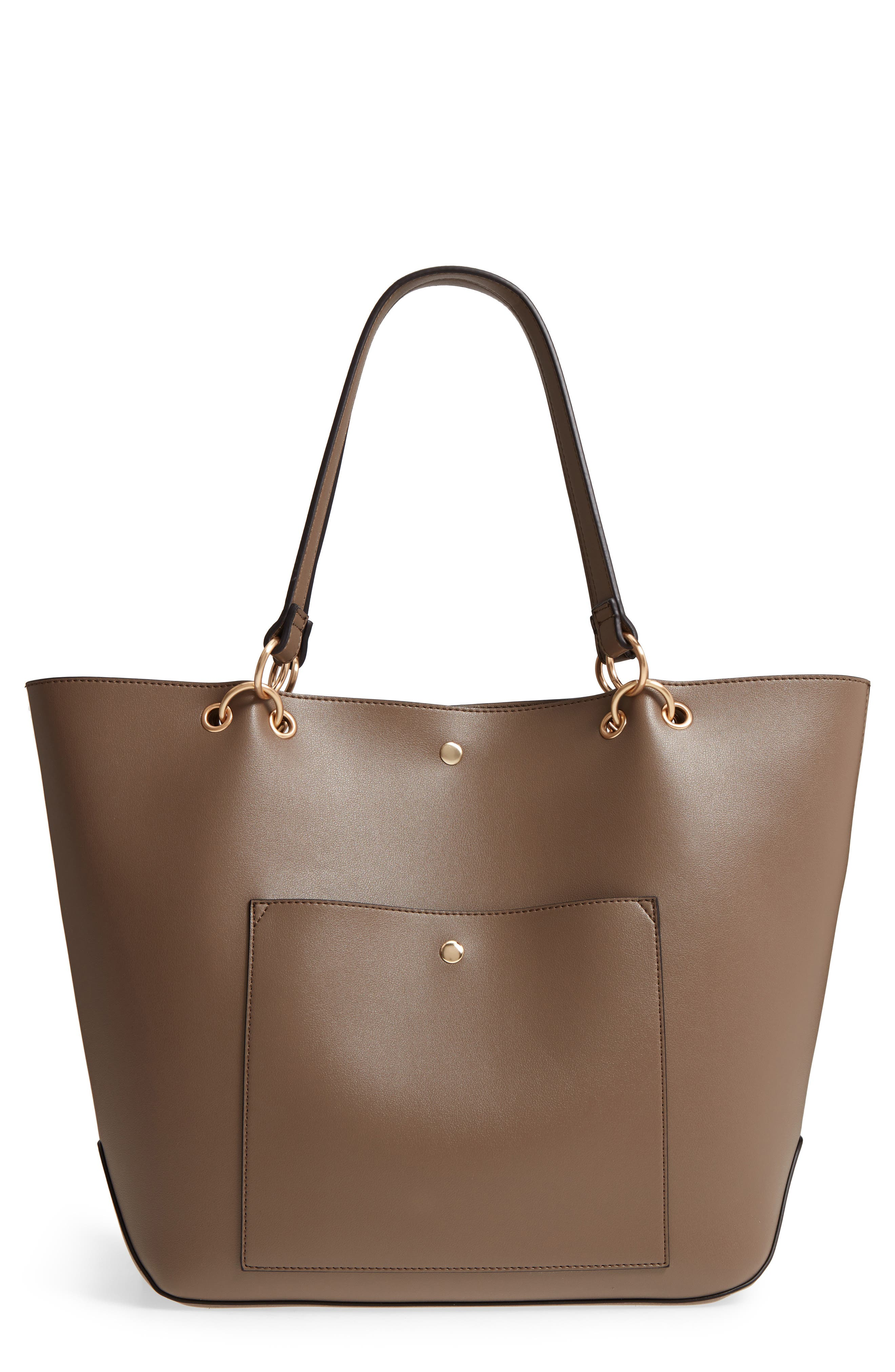 Fronto Faux Leather Tote, Main, color, 281