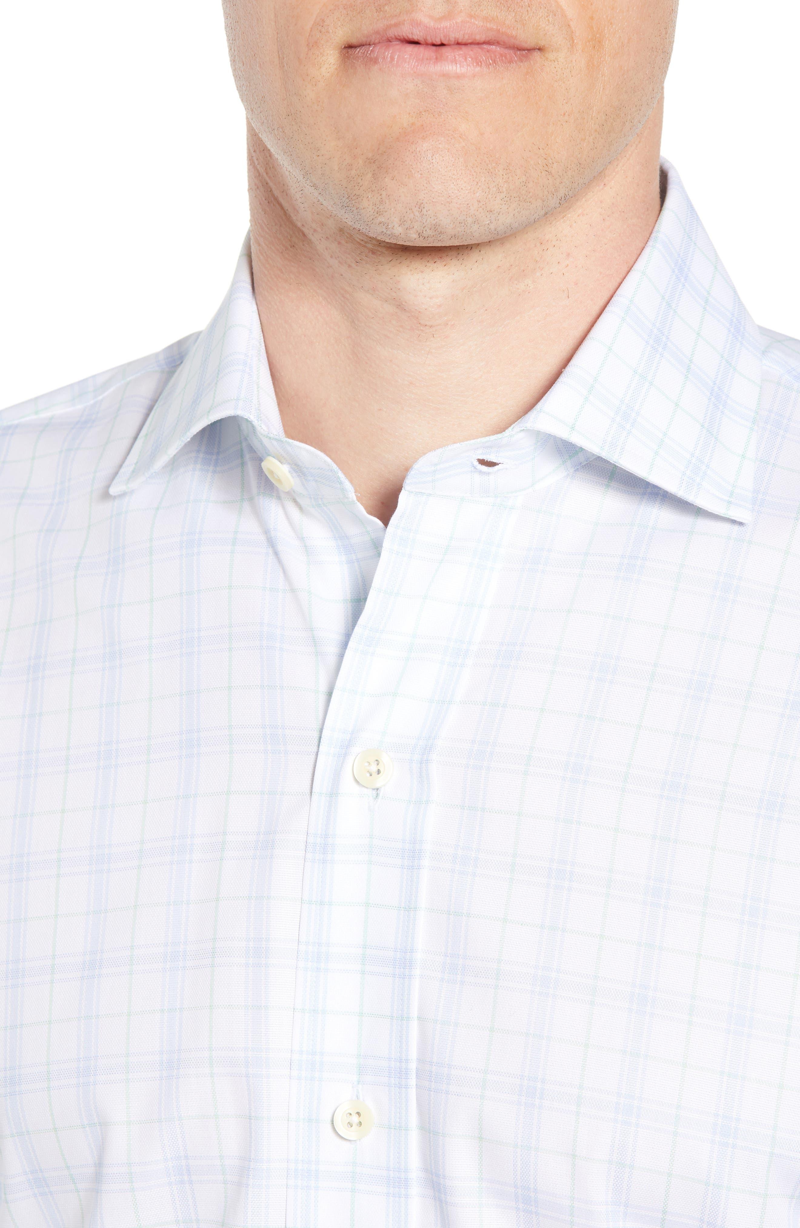 Lymann Trim Fit Plaid Dress Shirt,                             Alternate thumbnail 2, color,                             410