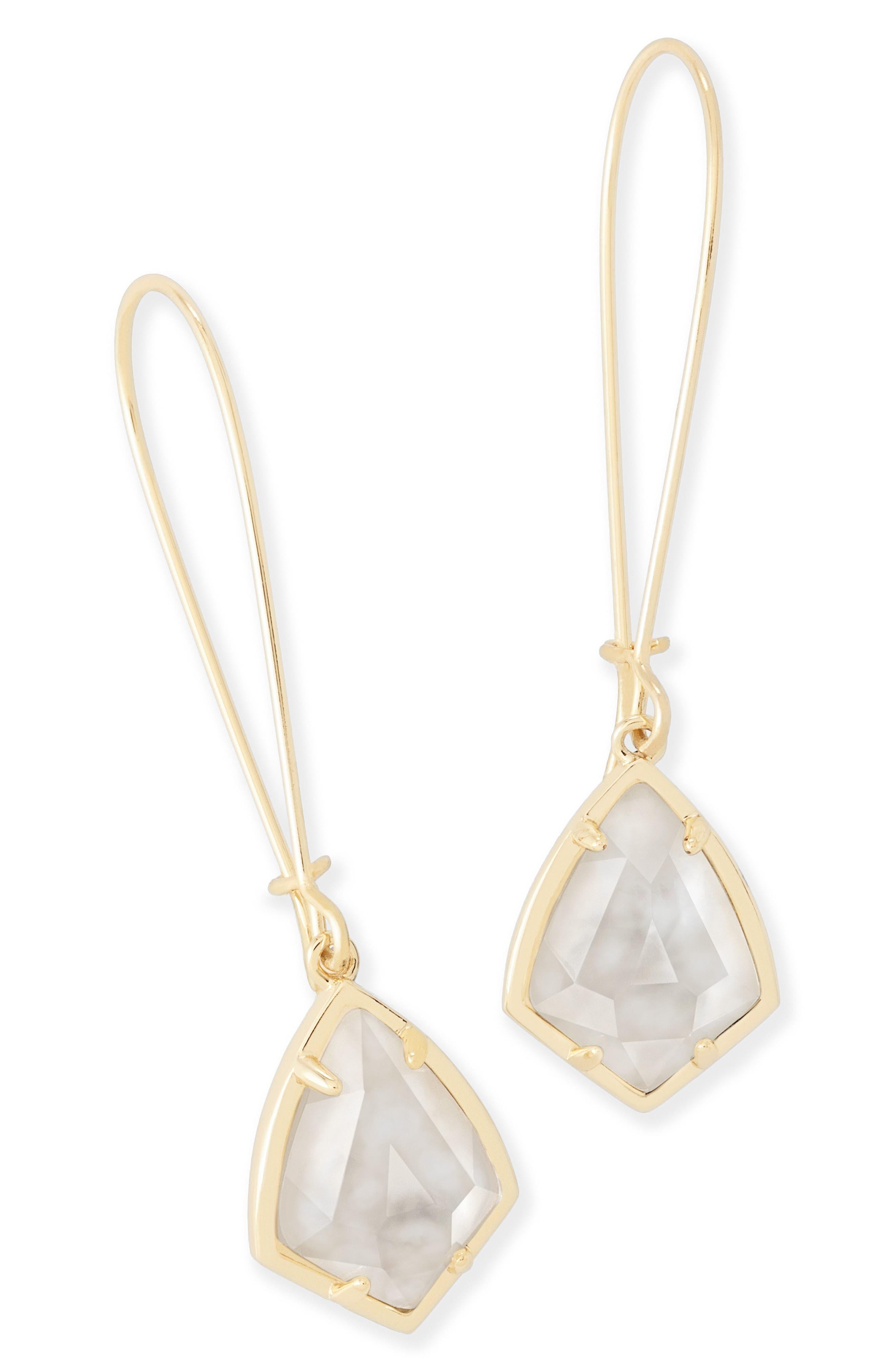 'Carrine' Semiprecious Stone Drop Earrings,                             Alternate thumbnail 27, color,