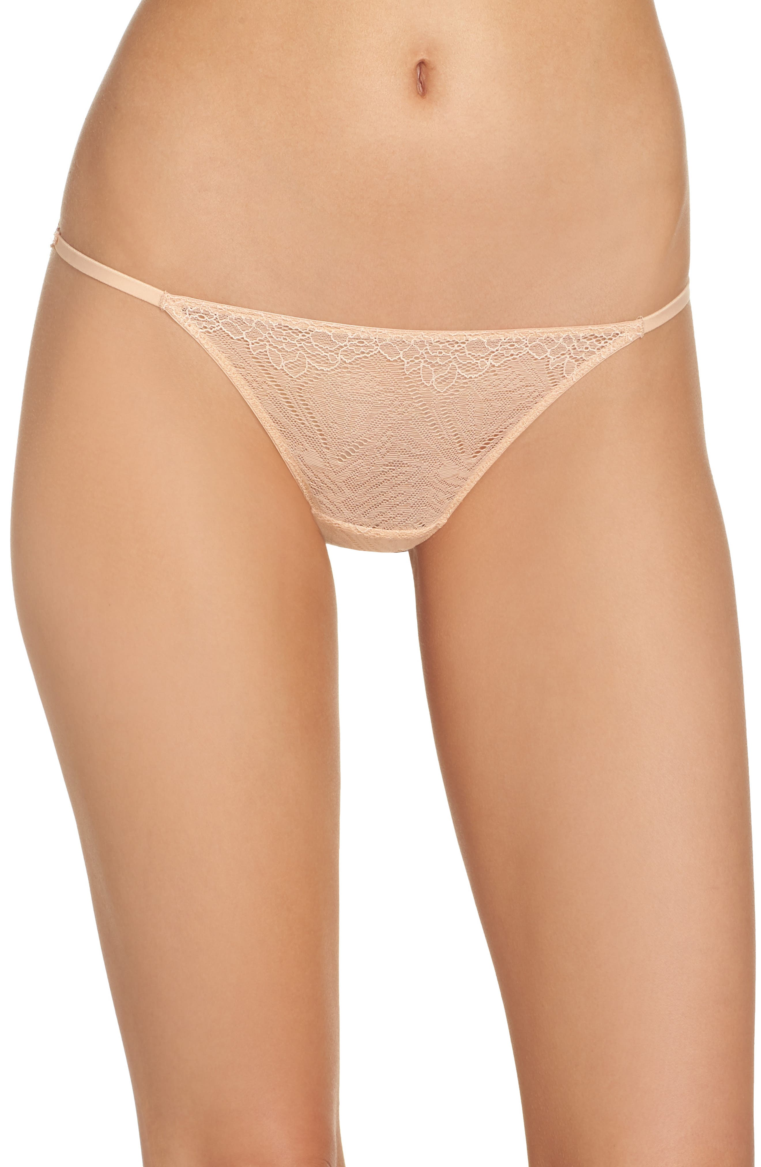 Lace String Bikini,                             Main thumbnail 1, color,                             VOILE PINK