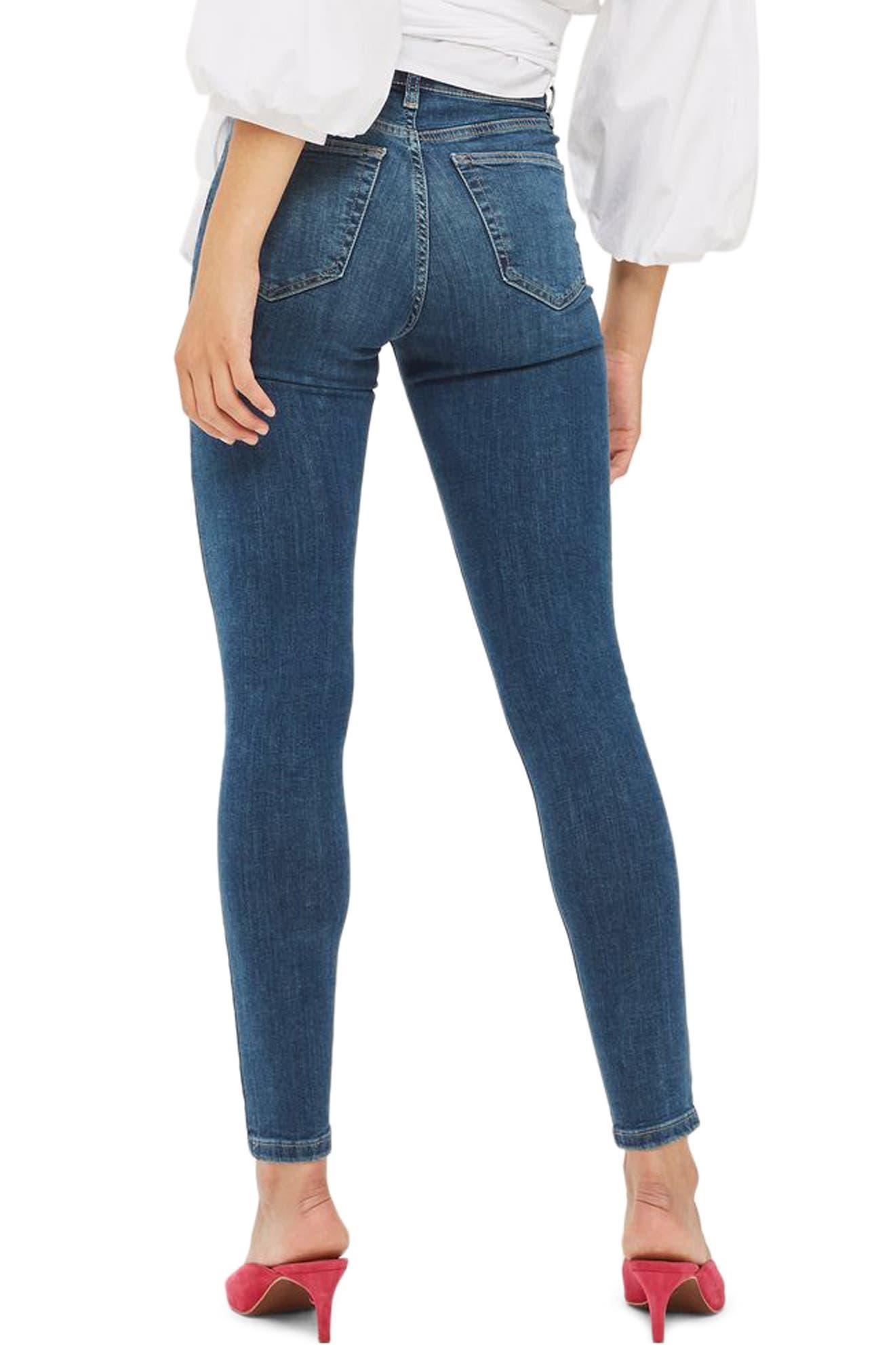 Jamie High Waist Crop Skinny Jeans,                             Alternate thumbnail 3, color,