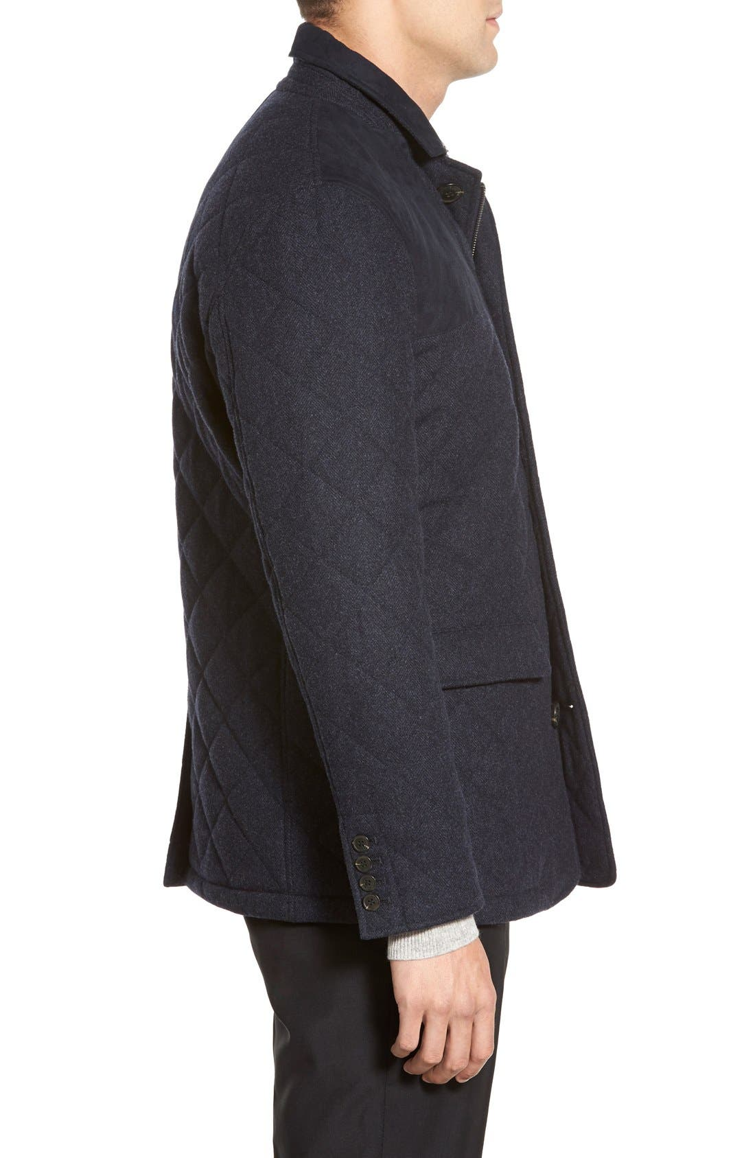 'Shooter' Wool Blend Quilted Jacket,                             Alternate thumbnail 9, color,