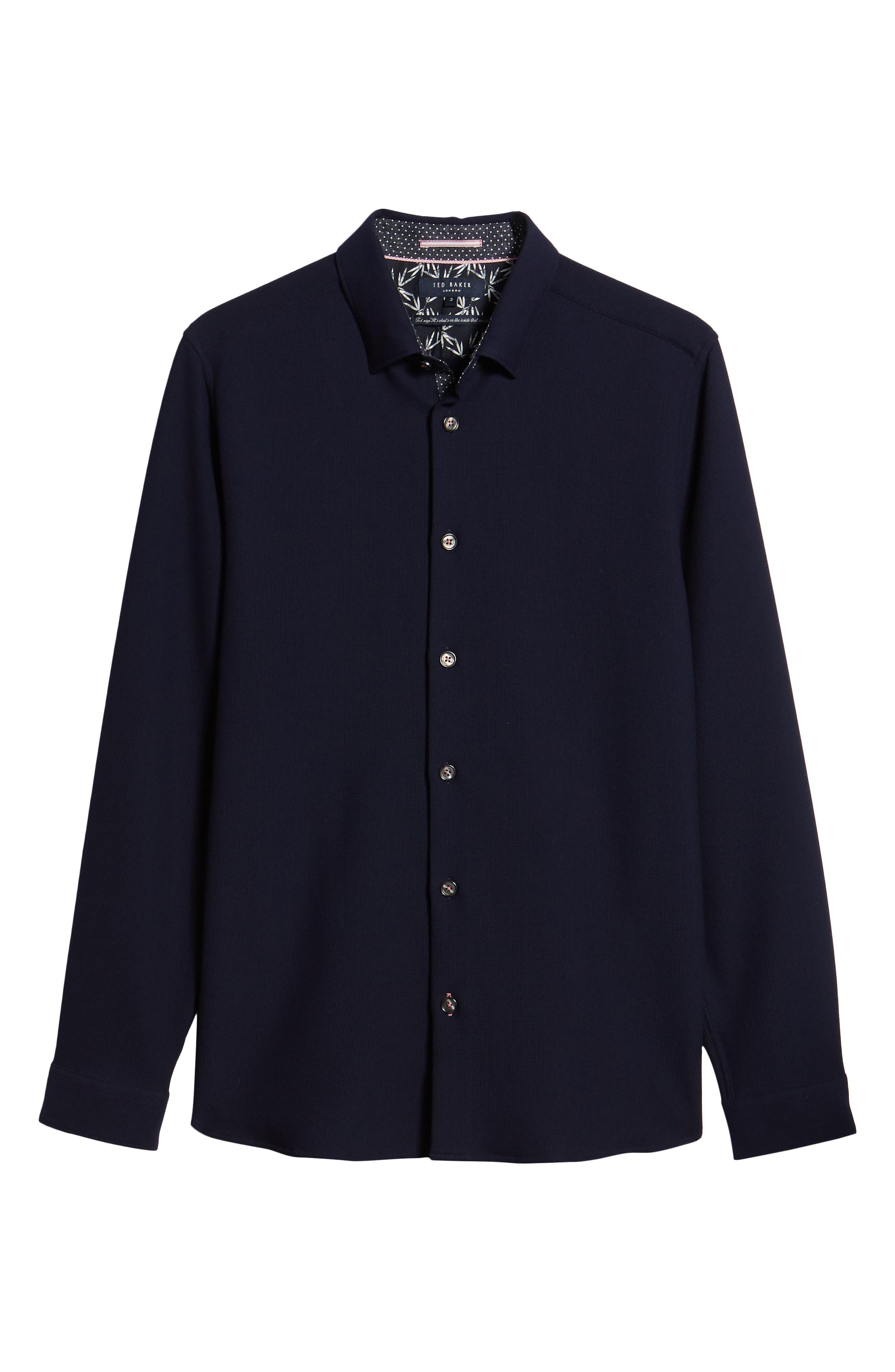 Loretax Trim Fit Stretch Knit Sport Shirt,                             Alternate thumbnail 6, color,