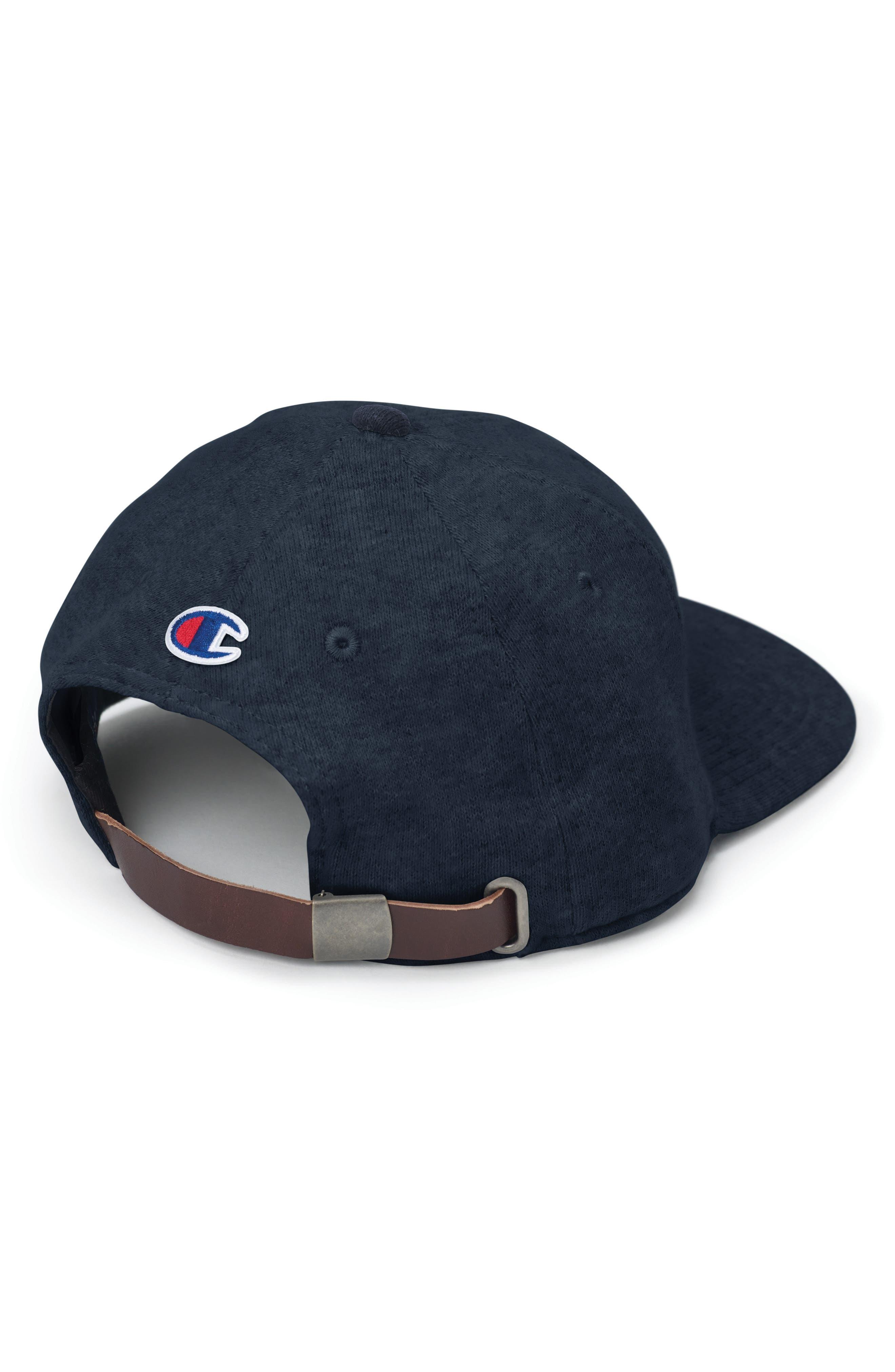 Reverse Weave Baseball Cap,                             Alternate thumbnail 2, color,                             NAVY