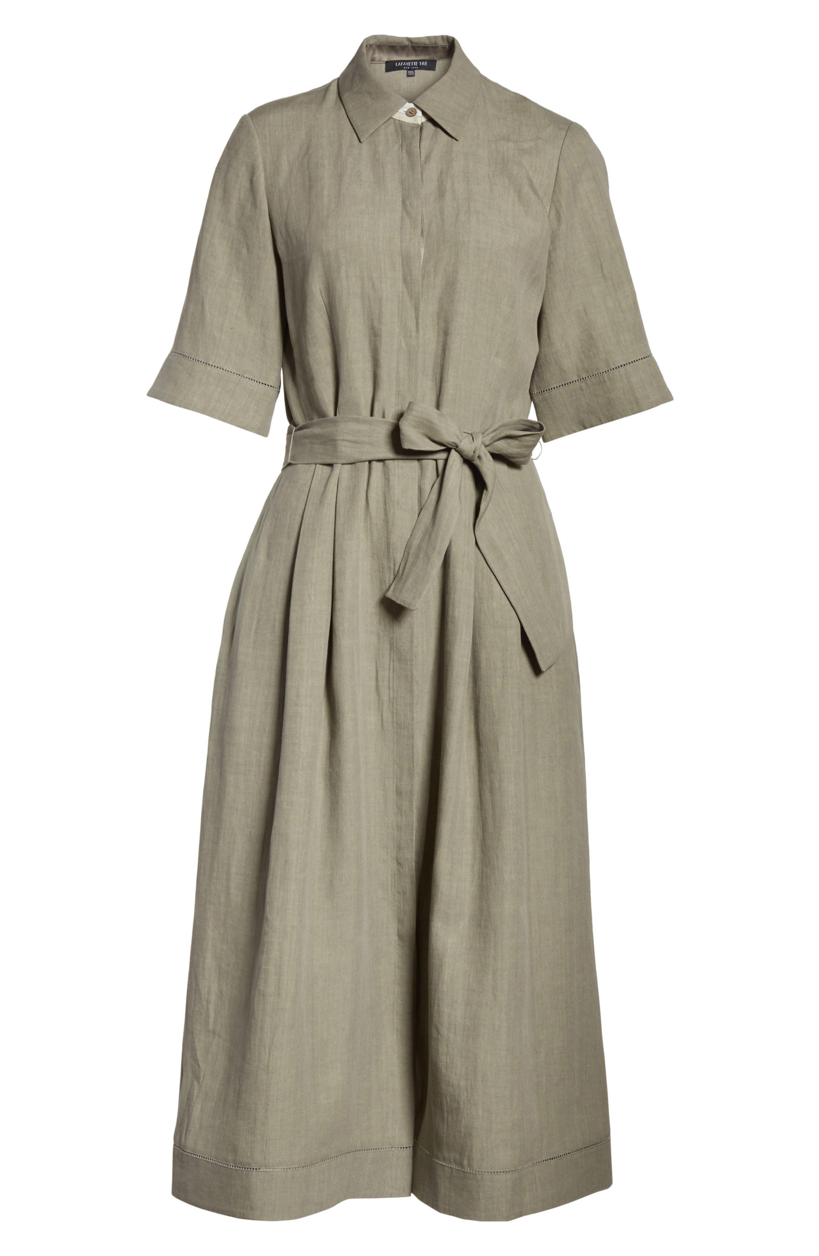 Eleni Linen Shirtdress,                             Alternate thumbnail 6, color,                             033