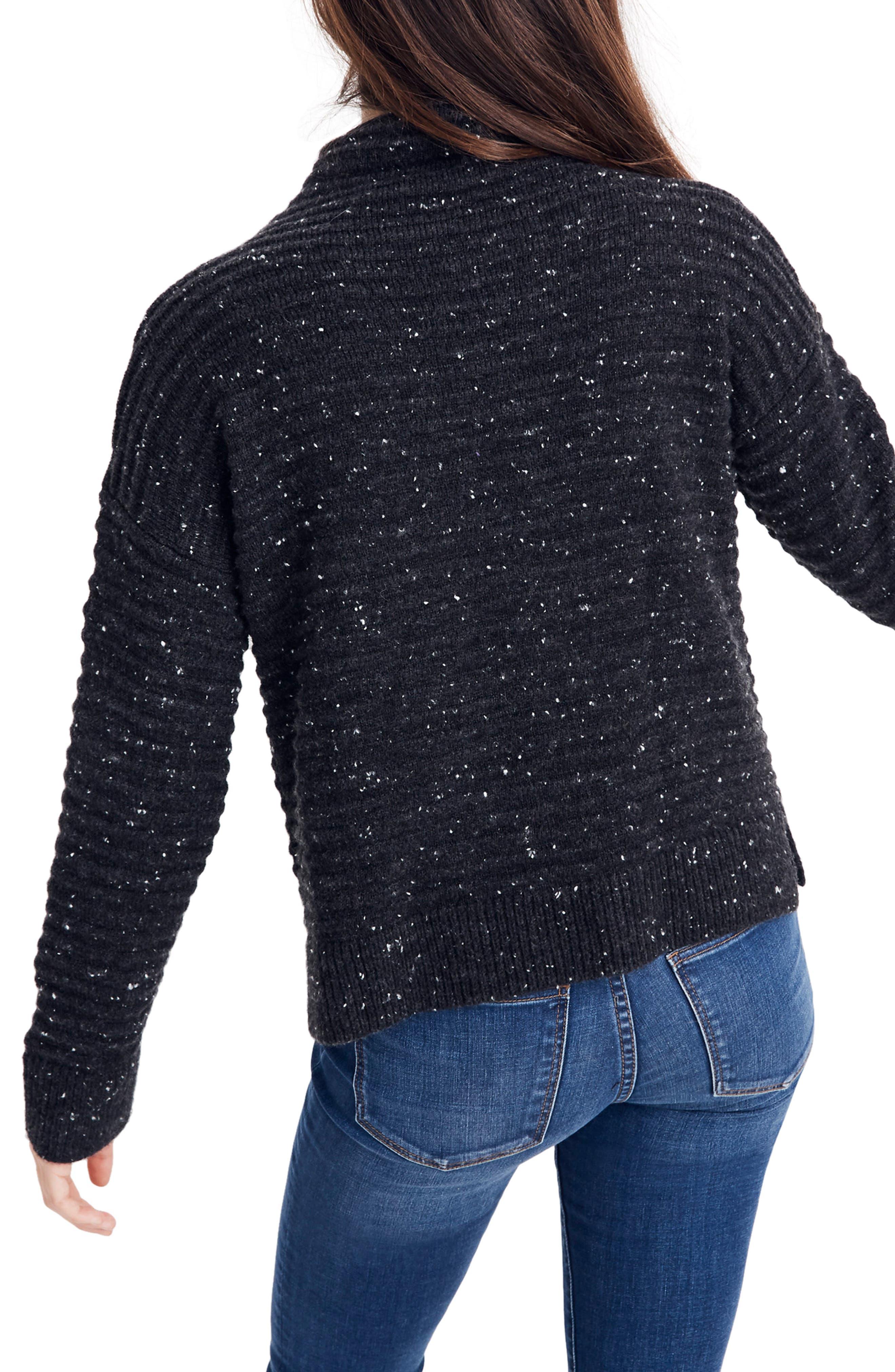 Belmont Donegal Mock Neck Sweater,                             Alternate thumbnail 3, color,                             DONEGAL STORM
