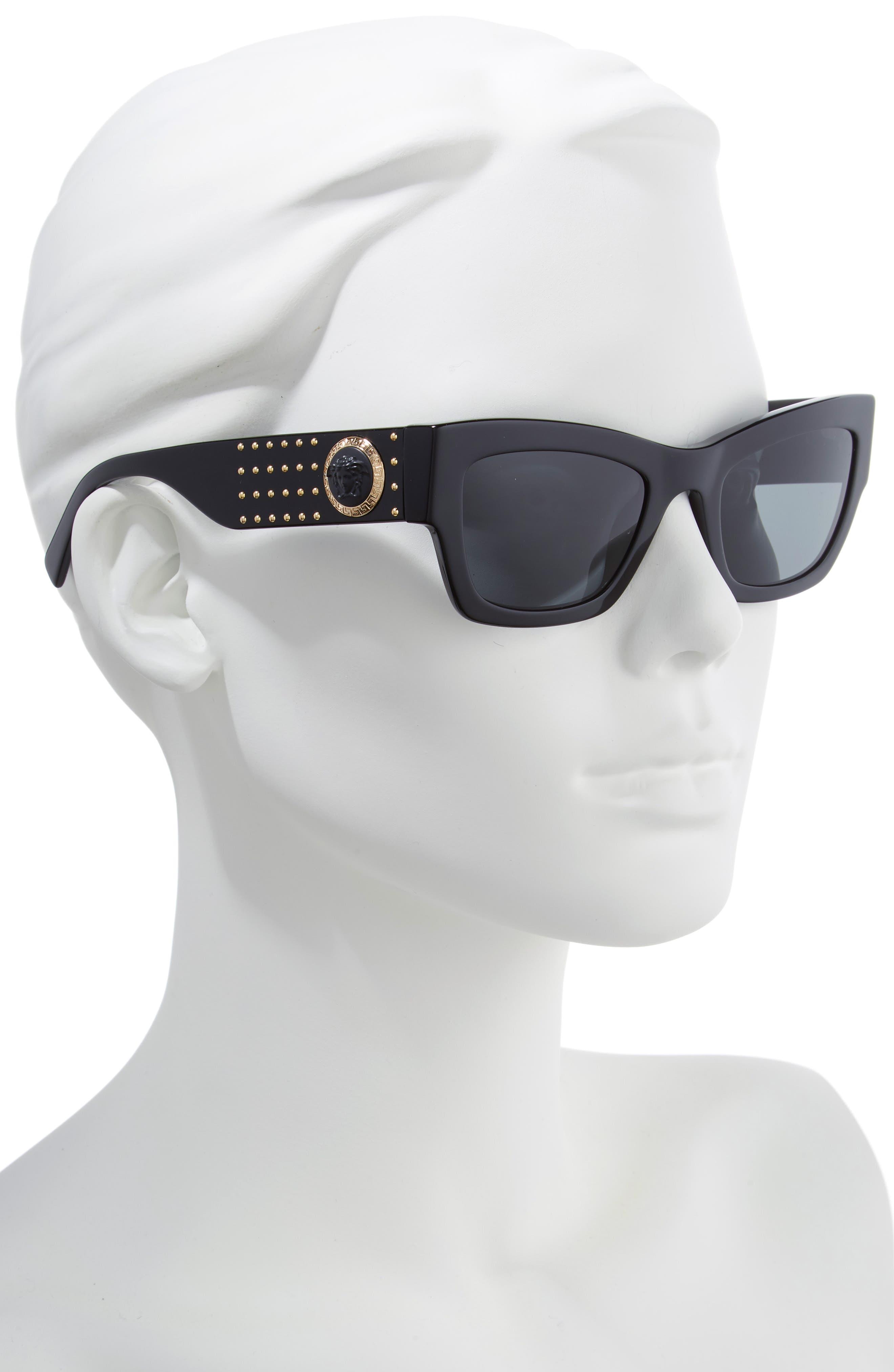 Medusa 52mm Square Sunglasses,                             Alternate thumbnail 2, color,                             GREY SOLID