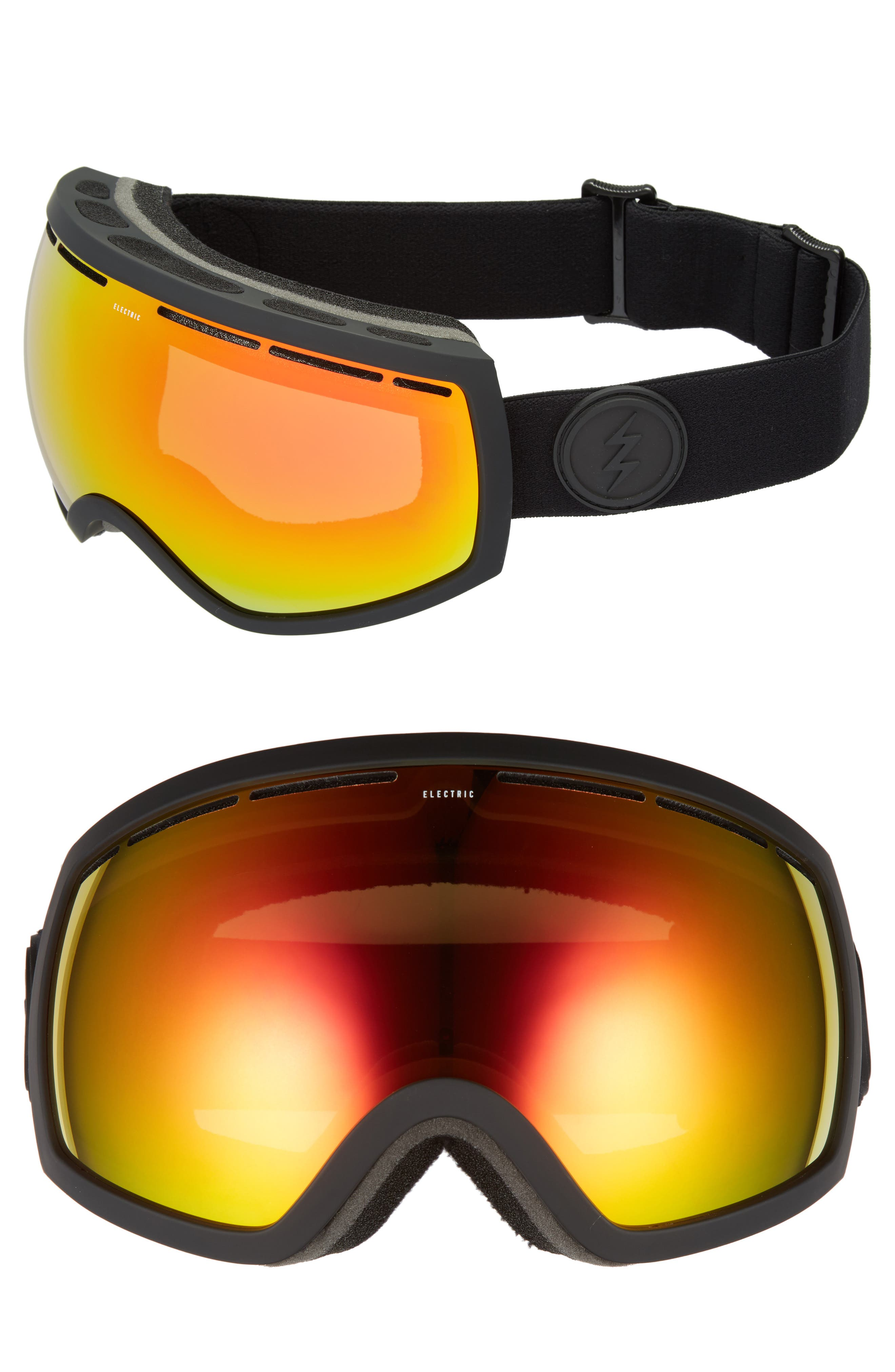EG2 Snow Goggles,                         Main,                         color, MATTE BLACK/ RED CHROME