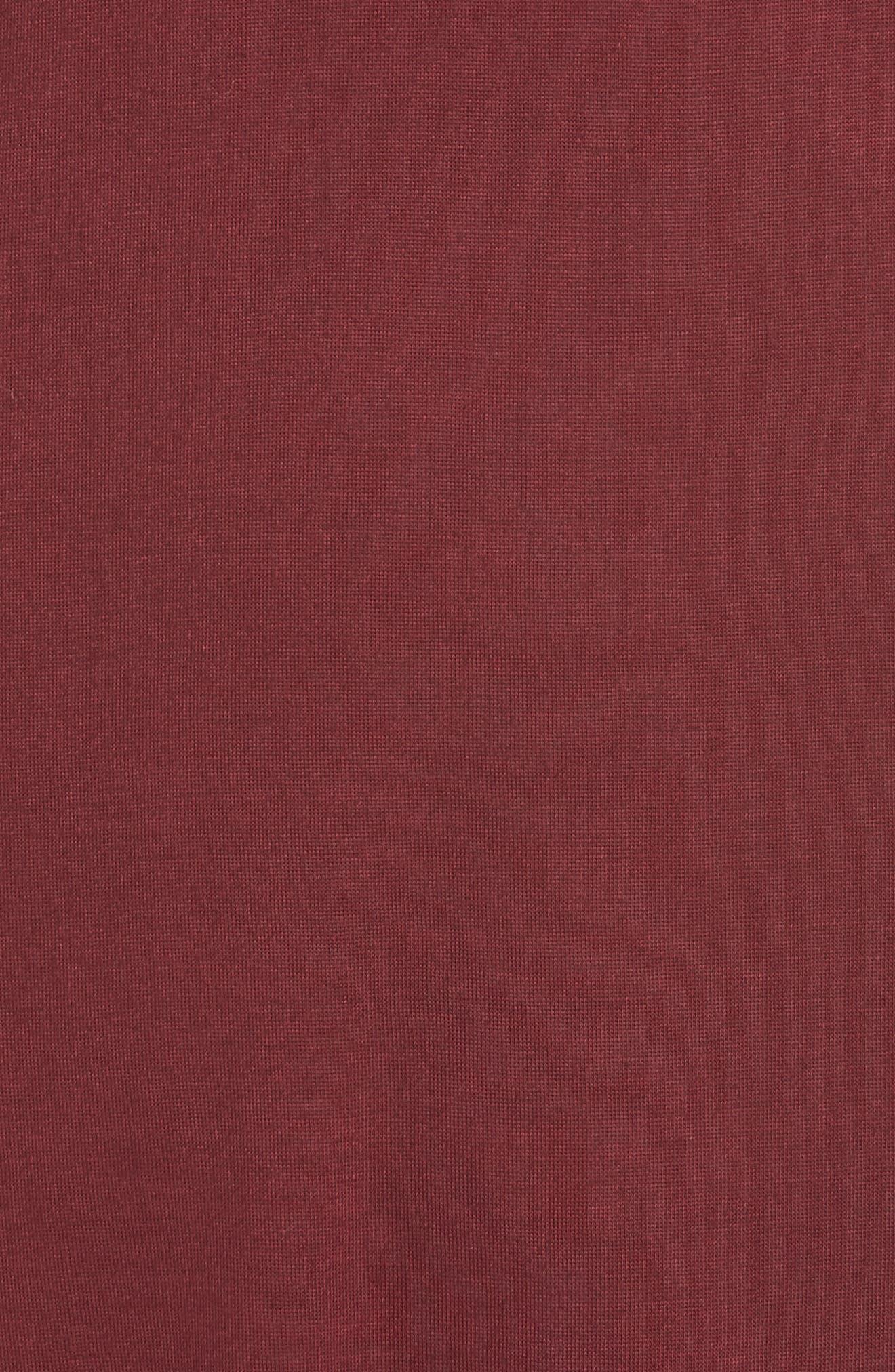 Racerback Cover-Up Tank Dress,                             Alternate thumbnail 5, color,                             BURGUNDY FIELD