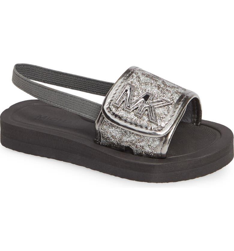 3cd4d3d38a8a MICHAEL Michael Kors Eli Seneca Glitter Sport Slide Sandal (Walker ...