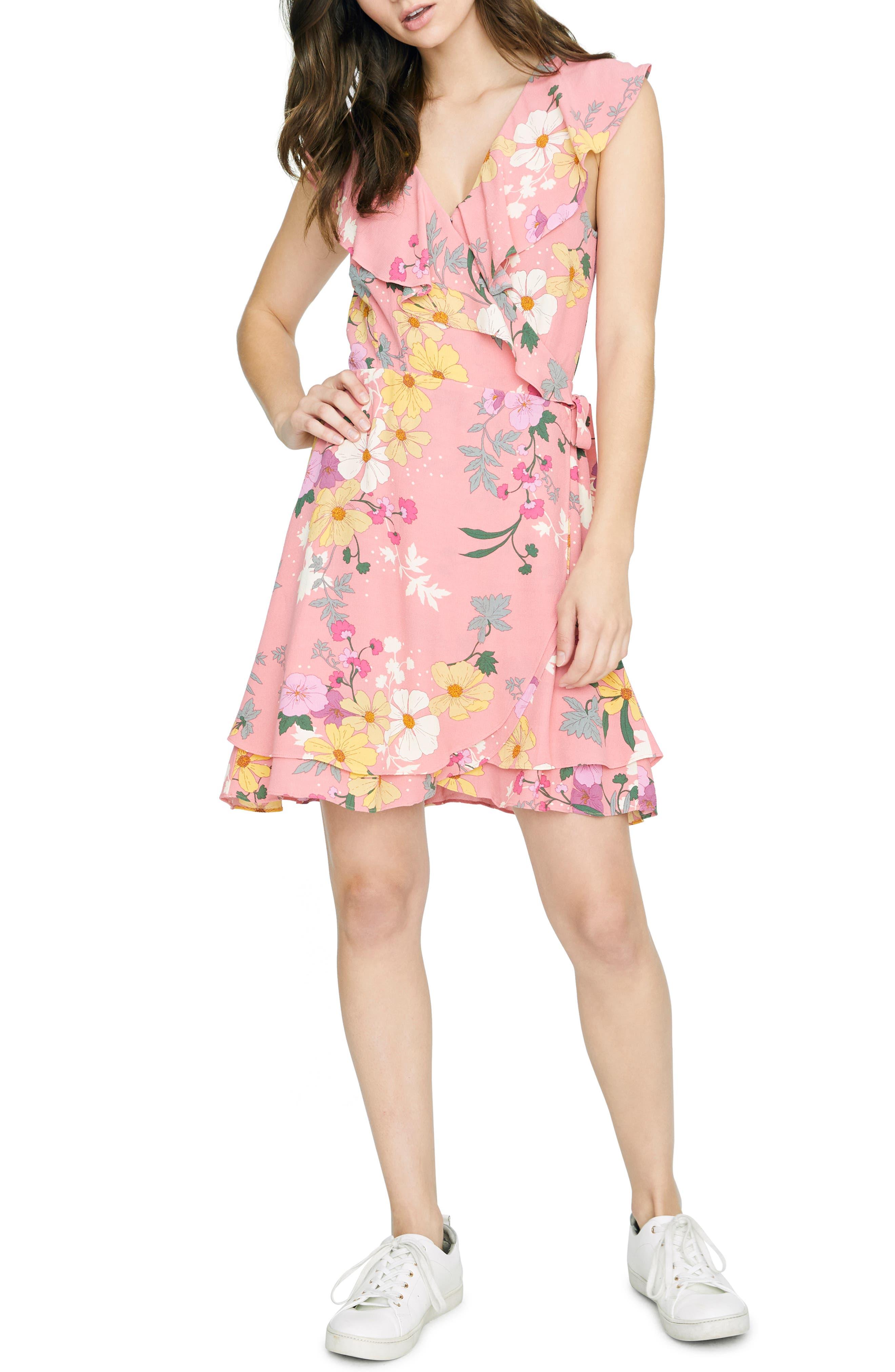 women's sanctuary johanna wrap dress, size xx-large - pink