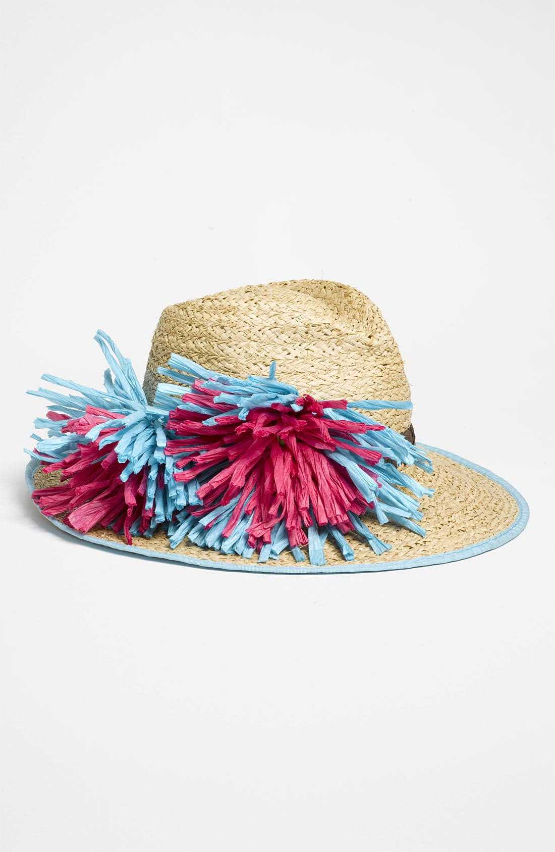 'Flower' Straw Fedora,                             Main thumbnail 1, color,