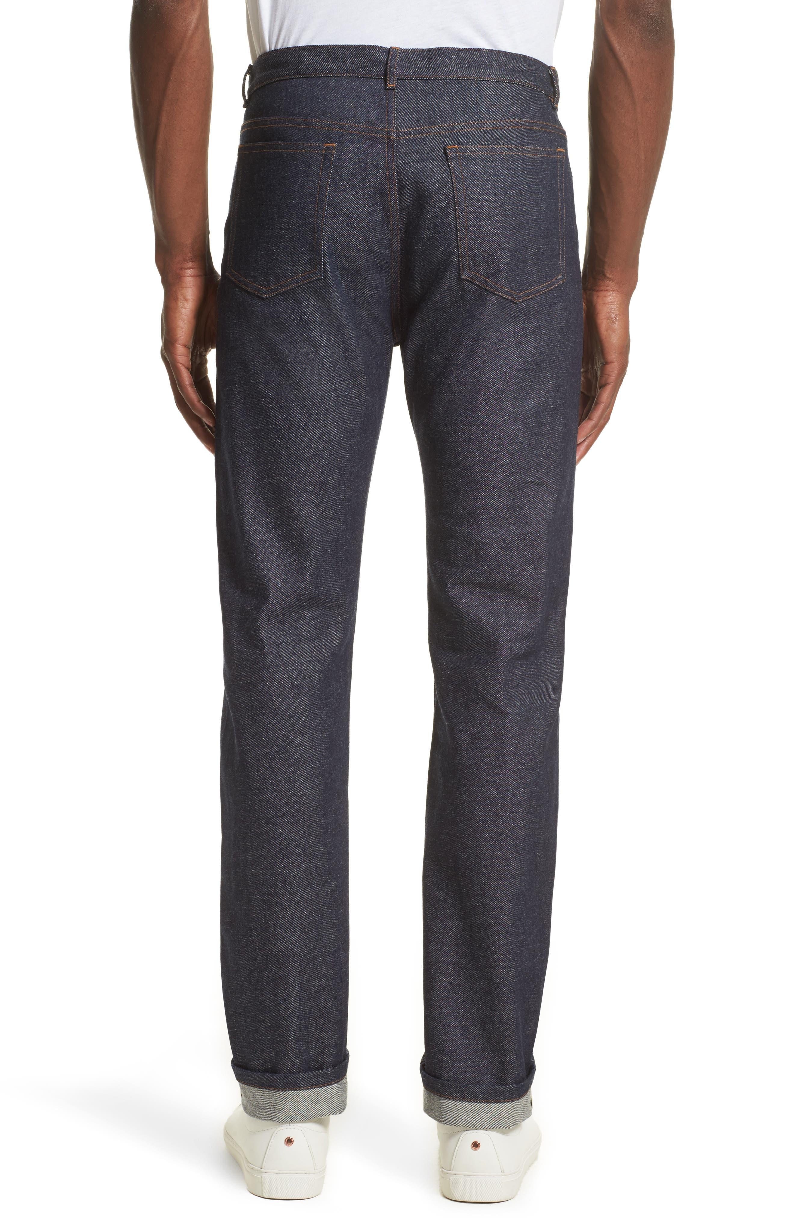 High Waist Standard Selvedge Jeans,                             Alternate thumbnail 2, color,                             468