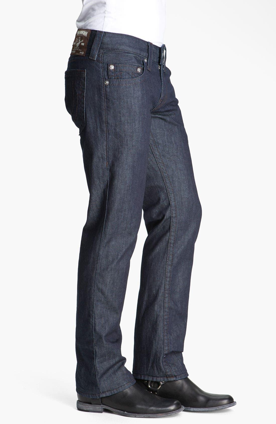 'Bobby' Straight Leg Jeans,                             Alternate thumbnail 4, color,                             400