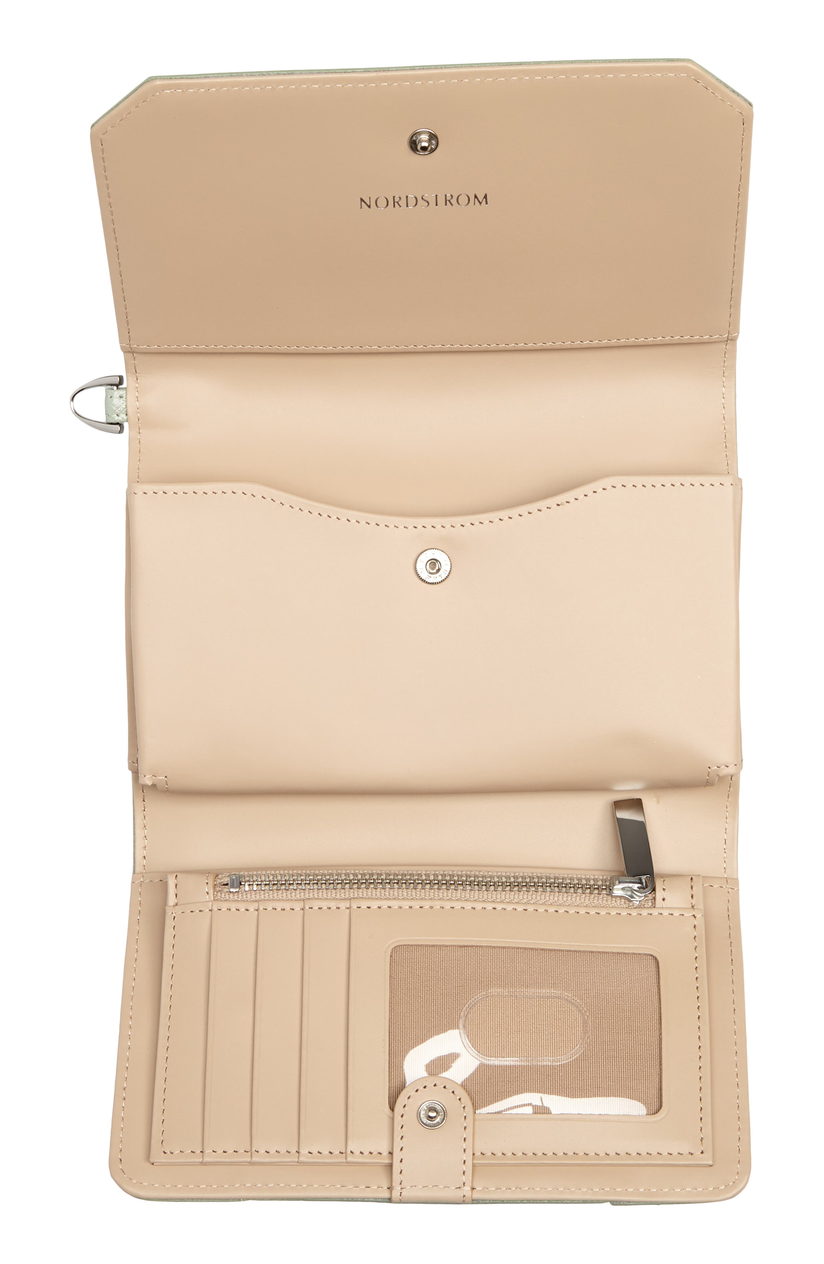 Trifold Leather Wallet,                             Alternate thumbnail 20, color,