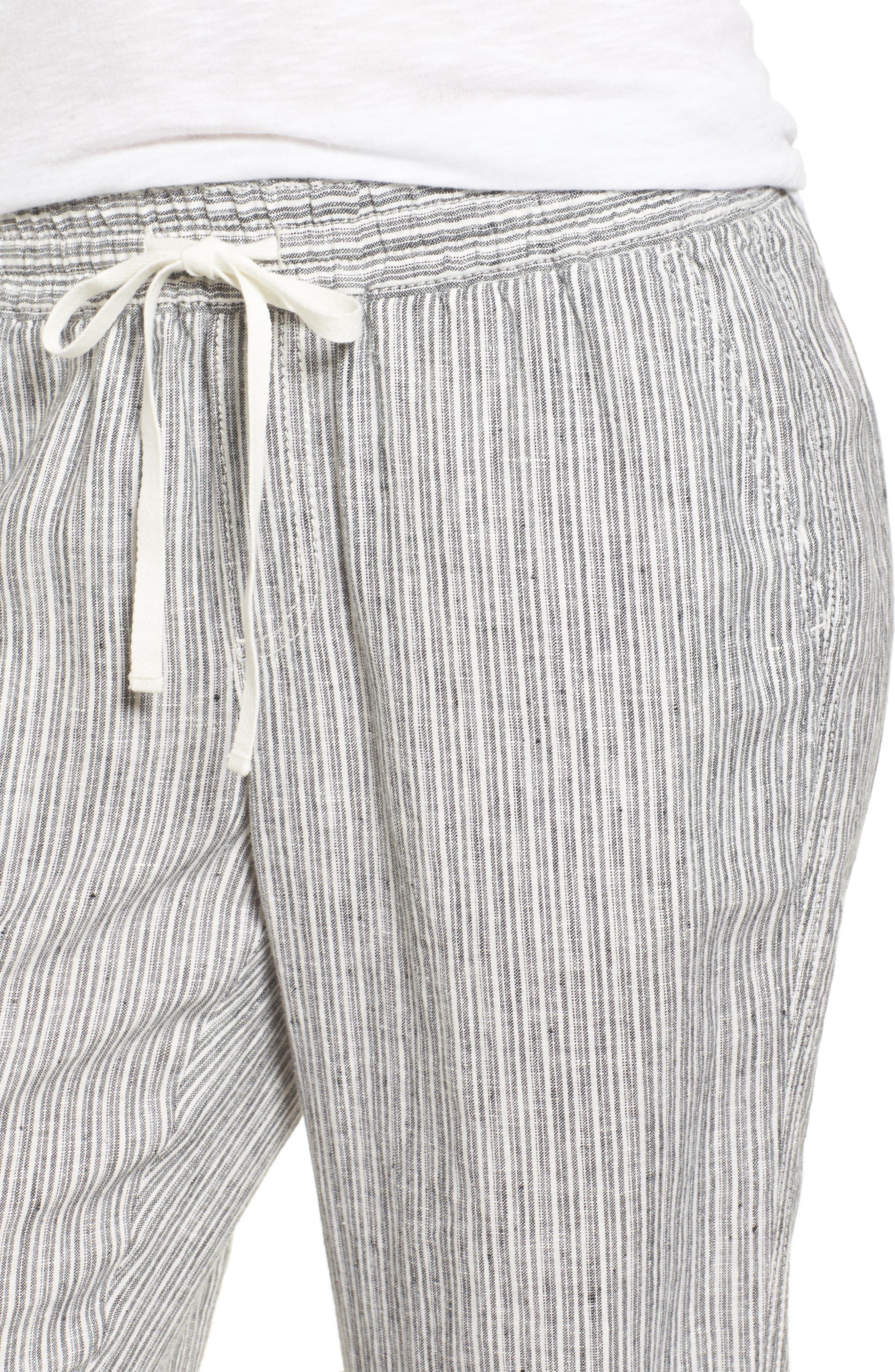 Linen Crop Pants,                             Alternate thumbnail 28, color,
