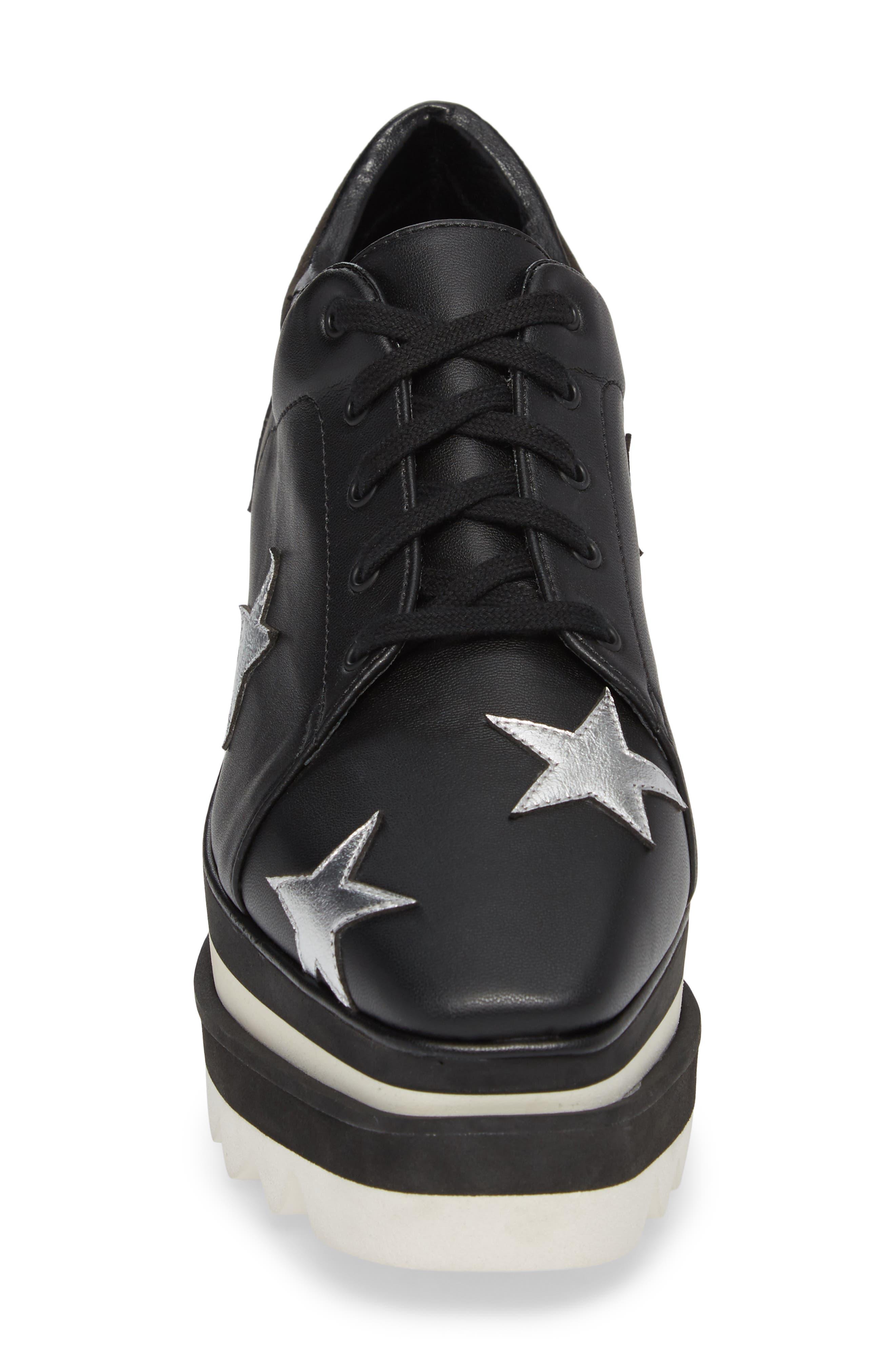 Elyse Platform Sneaker,                             Alternate thumbnail 4, color,                             BLACK
