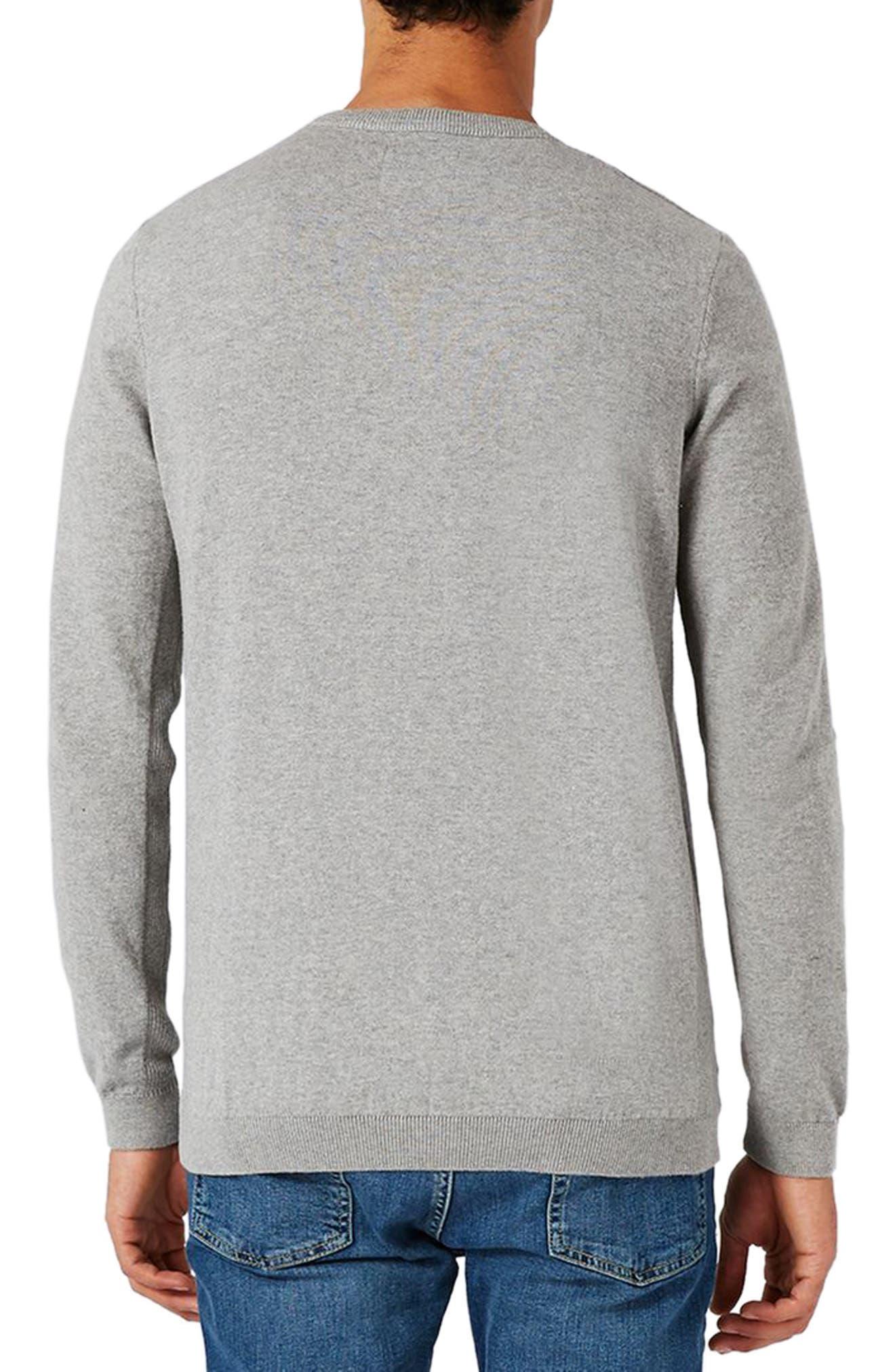 Side Rib Cotton Sweater,                             Alternate thumbnail 6, color,