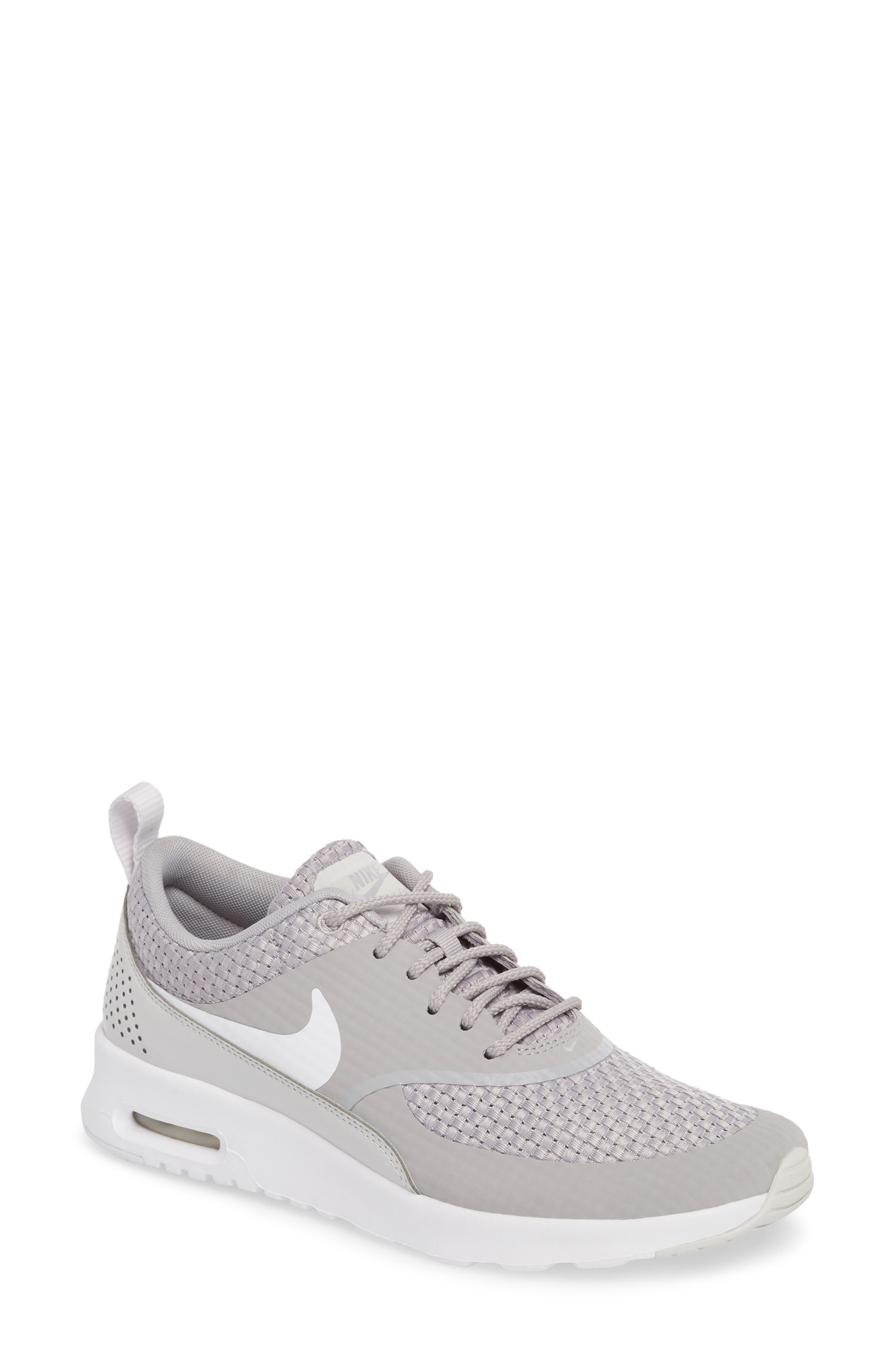 Air Max Thea Sneaker,                         Main,                         color, ATMOSPHERE GREY/ WHITE