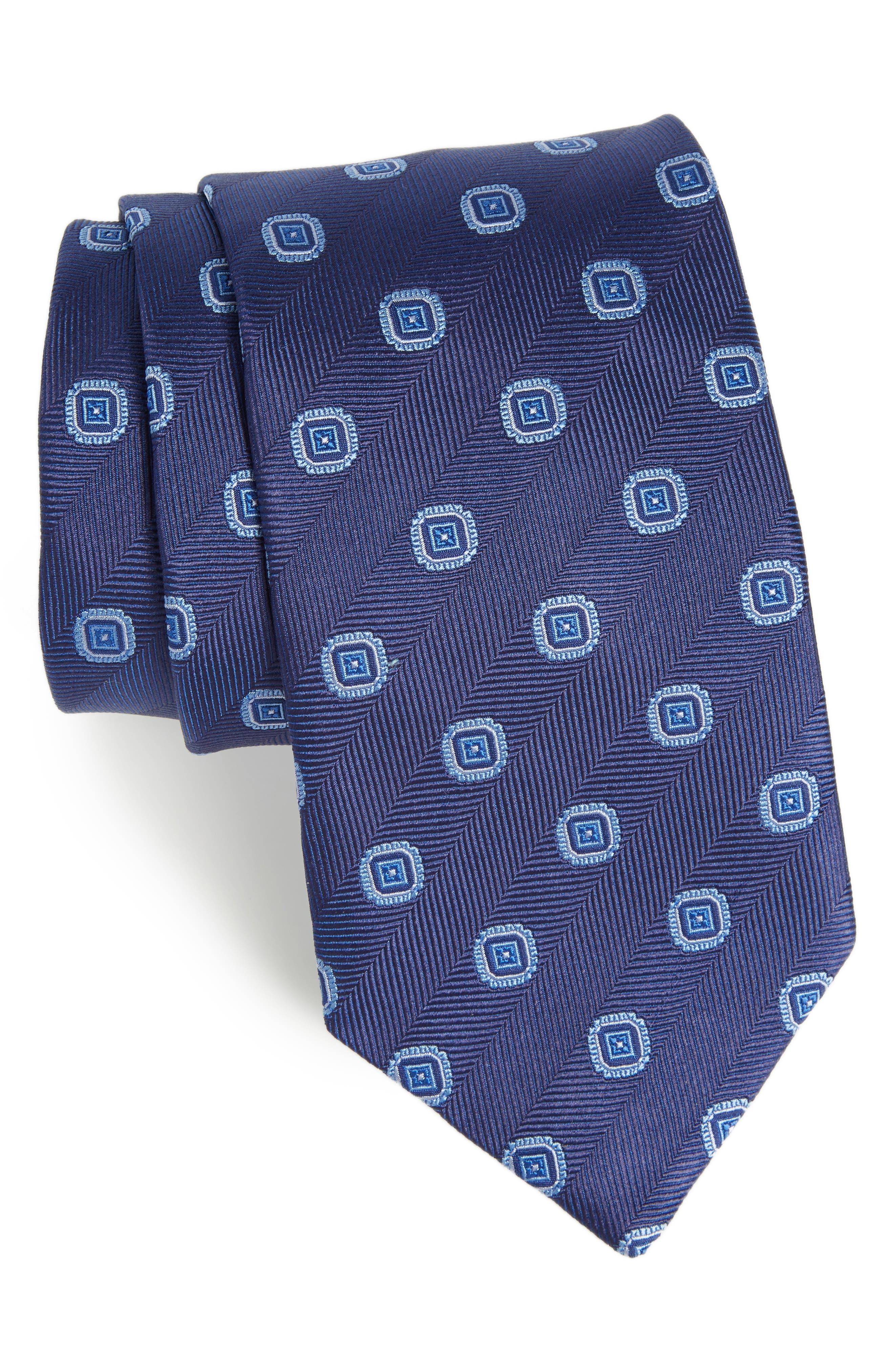 Medallion Silk Tie,                         Main,                         color, 412
