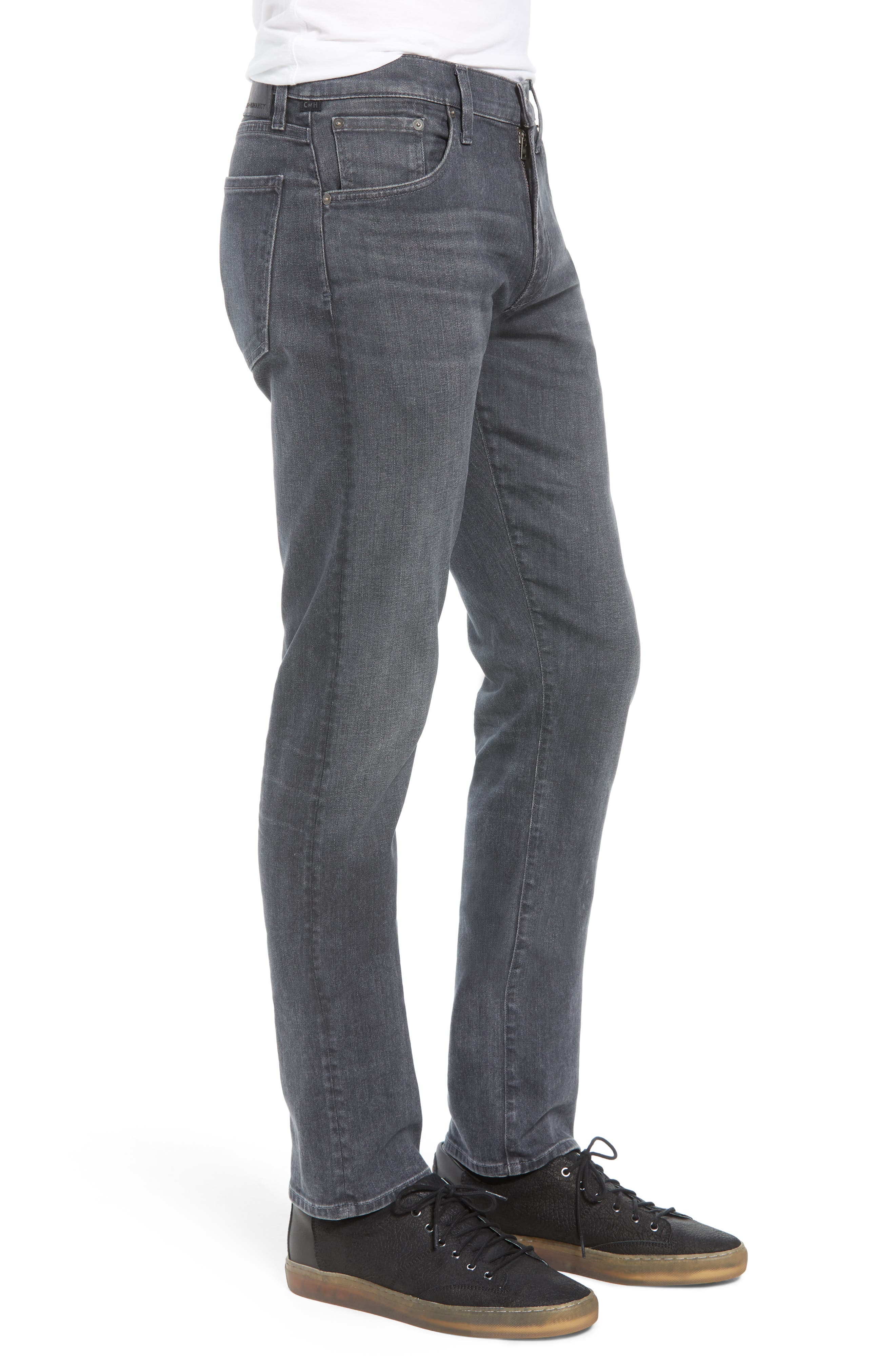 Gage Slim Straight Leg Jeans,                             Alternate thumbnail 3, color,                             FORTIER