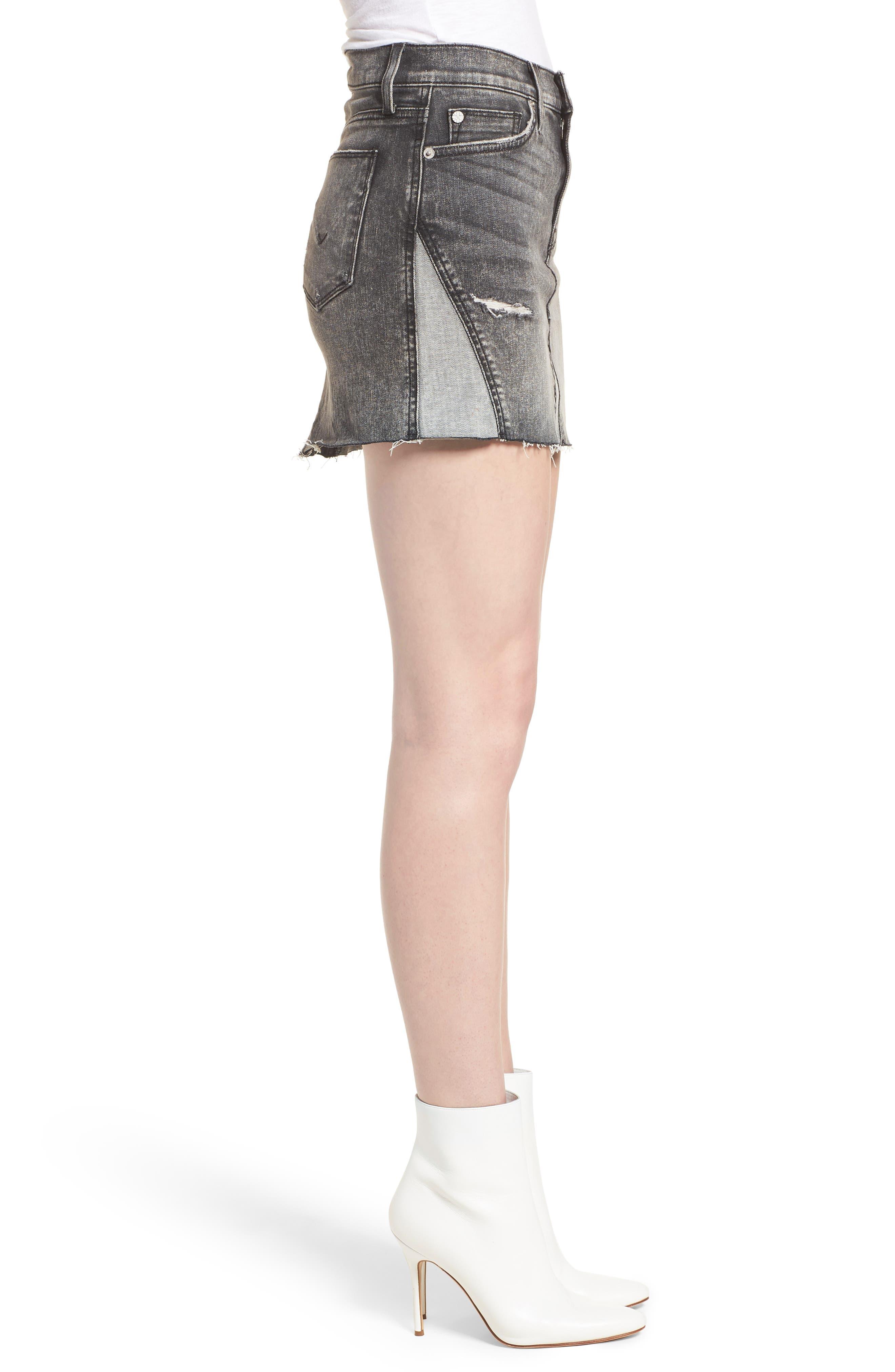 The Viper Cutoff Denim Miniskirt,                             Alternate thumbnail 3, color,                             OLD SCHOOL