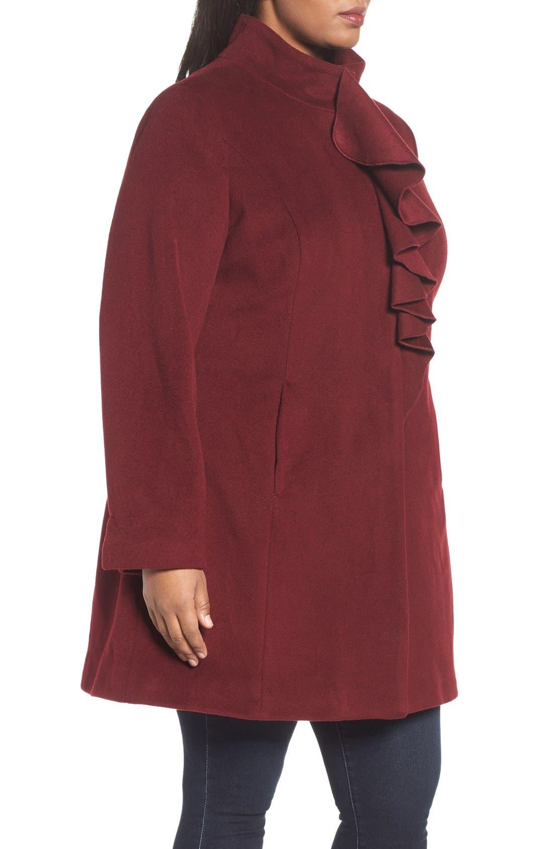 Kate Ruffle Wool Blend Coat,                             Alternate thumbnail 11, color,