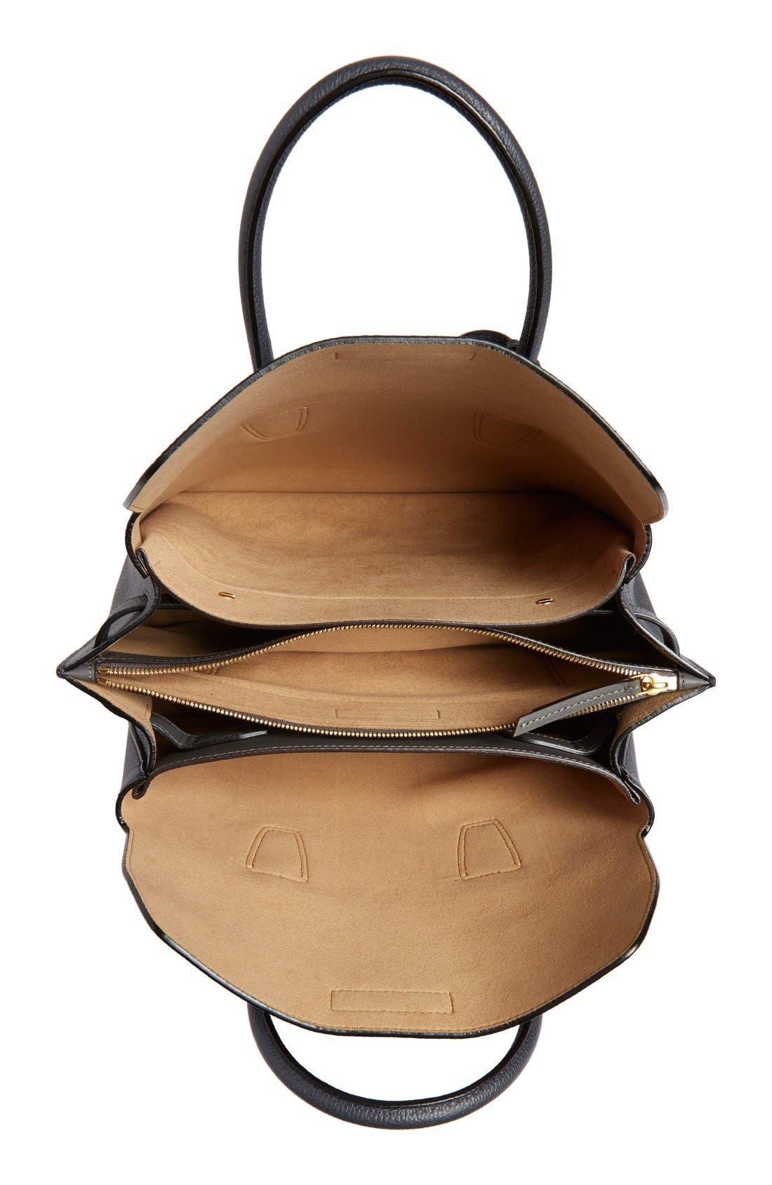 MCM,                             'Medium Milla' Leather Tote,                             Alternate thumbnail 5, color,                             020