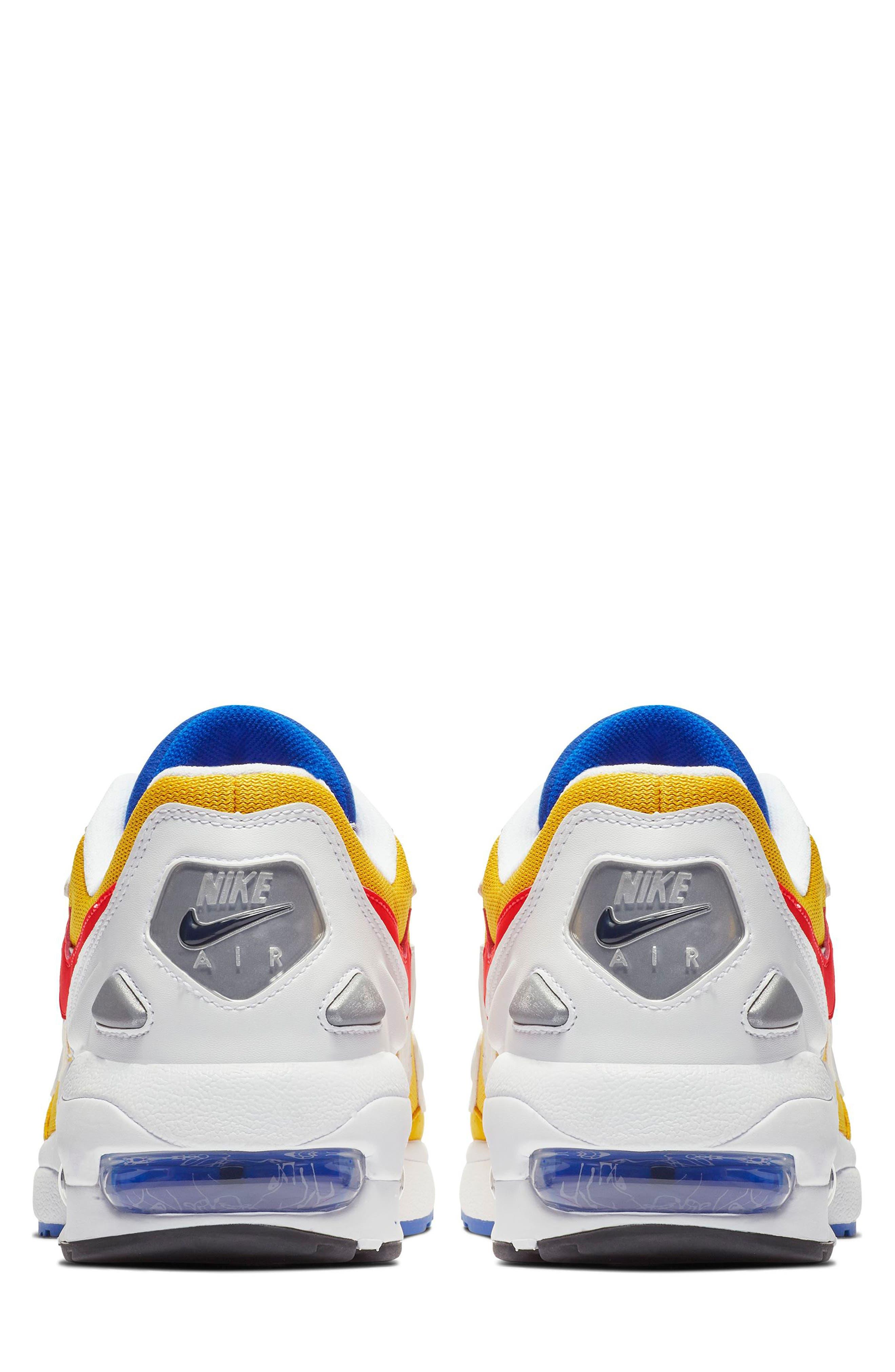 NIKE,                             Air Max2 Light Sneaker,                             Alternate thumbnail 2, color,                             GOLD CRIMSON/ BLUE