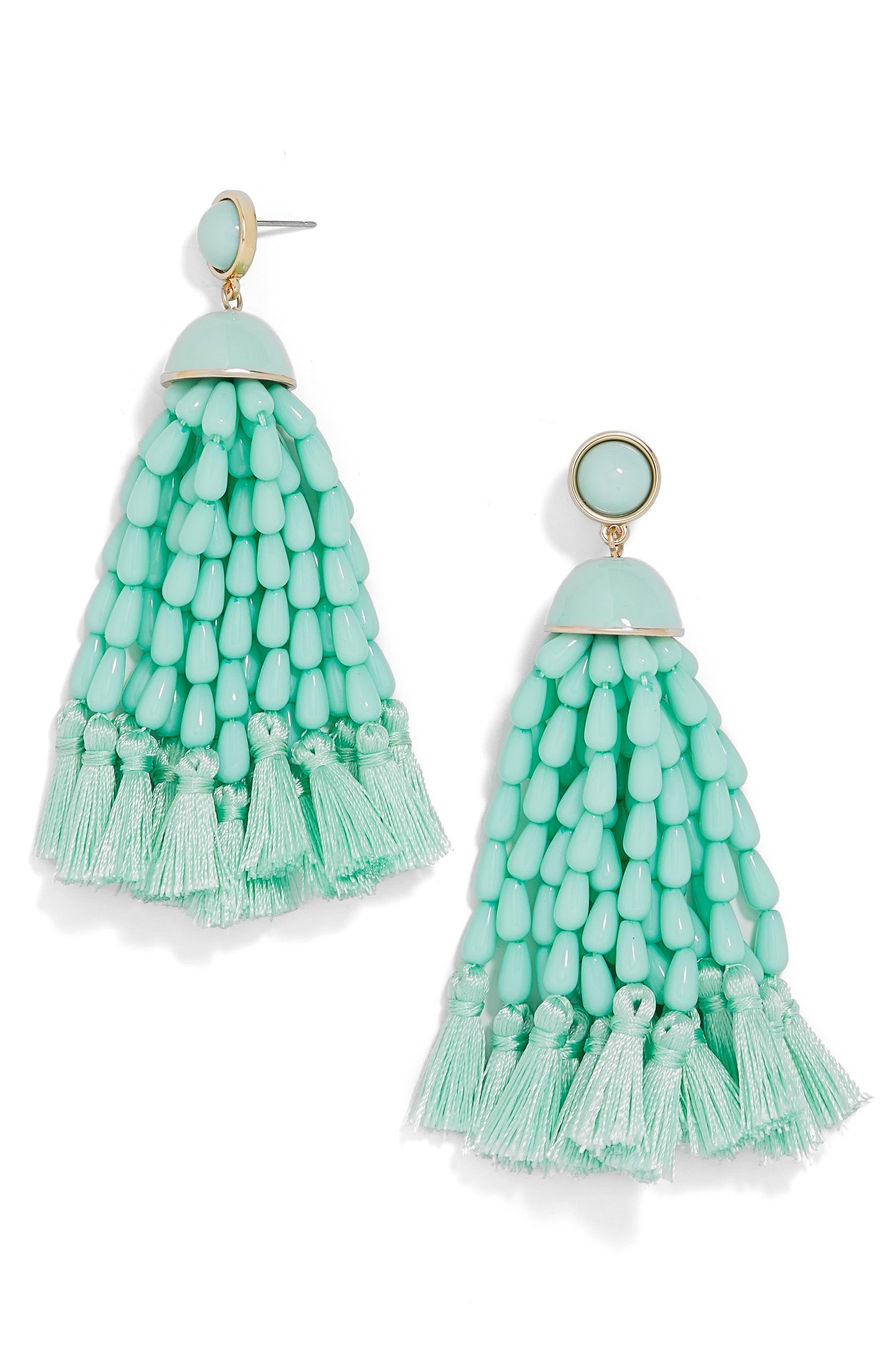 Margarita Beaded Tassel Earrings,                             Main thumbnail 1, color,                             410
