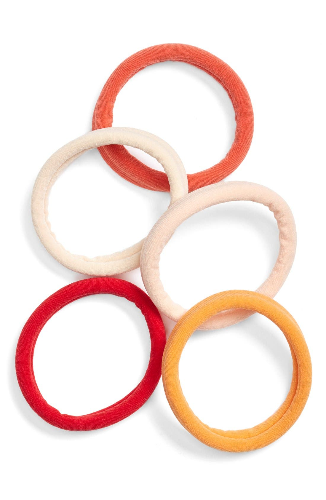 Set of 5 Sport Ponytail Holders,                             Main thumbnail 19, color,