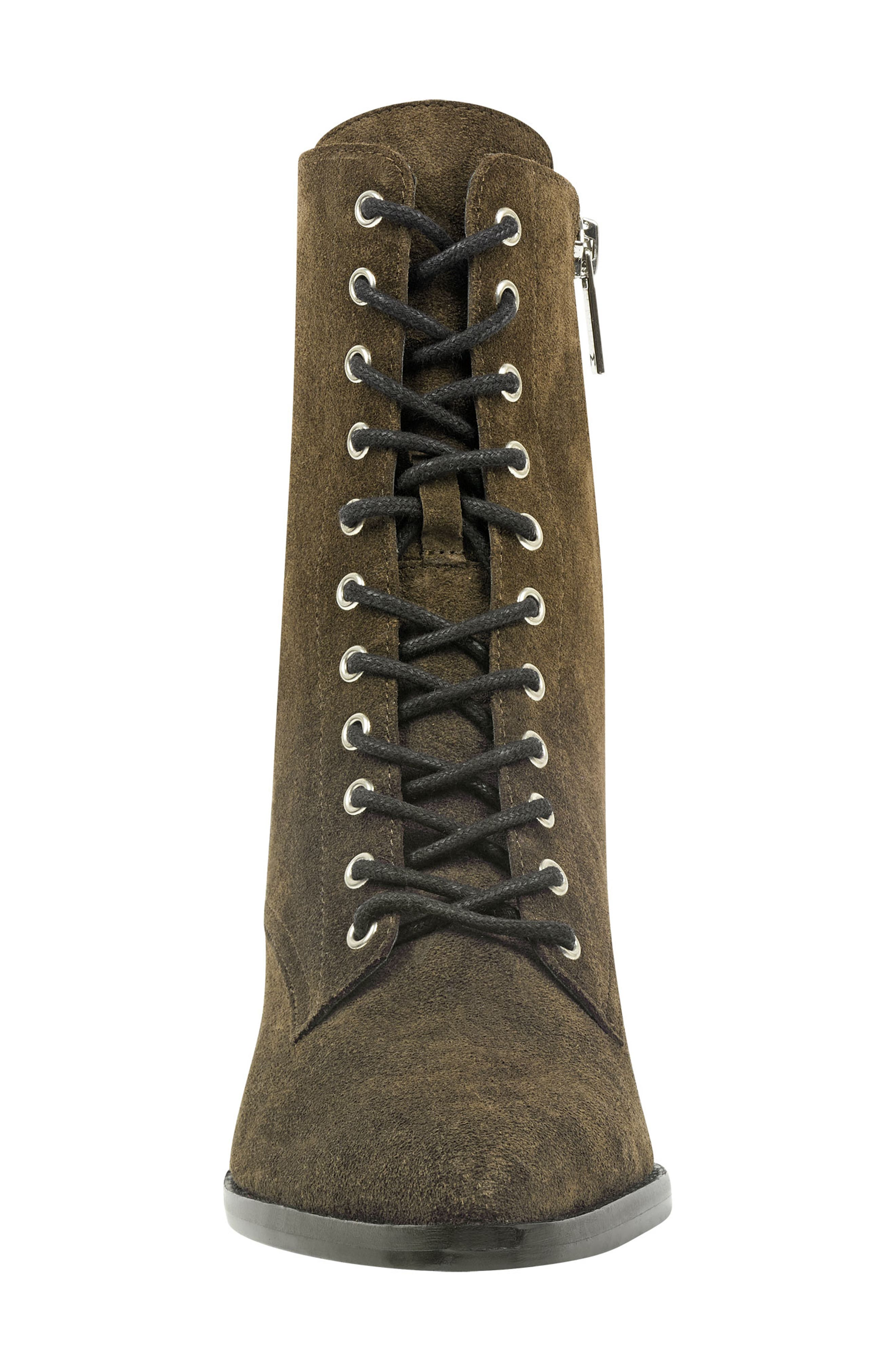 Bowie Lace-Up Boot,                             Alternate thumbnail 4, color,                             OLIVE SUEDE