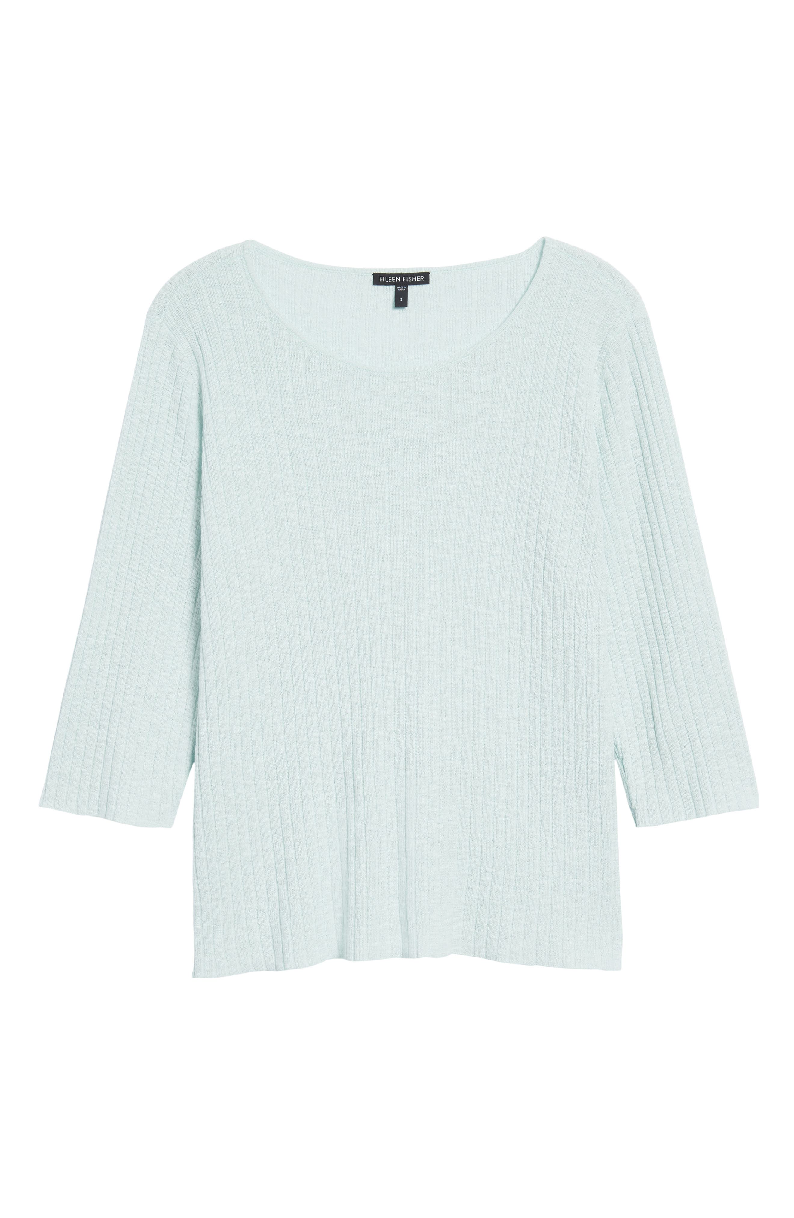 Ribbed Organic Linen & Cotton Sweater,                             Alternate thumbnail 11, color,