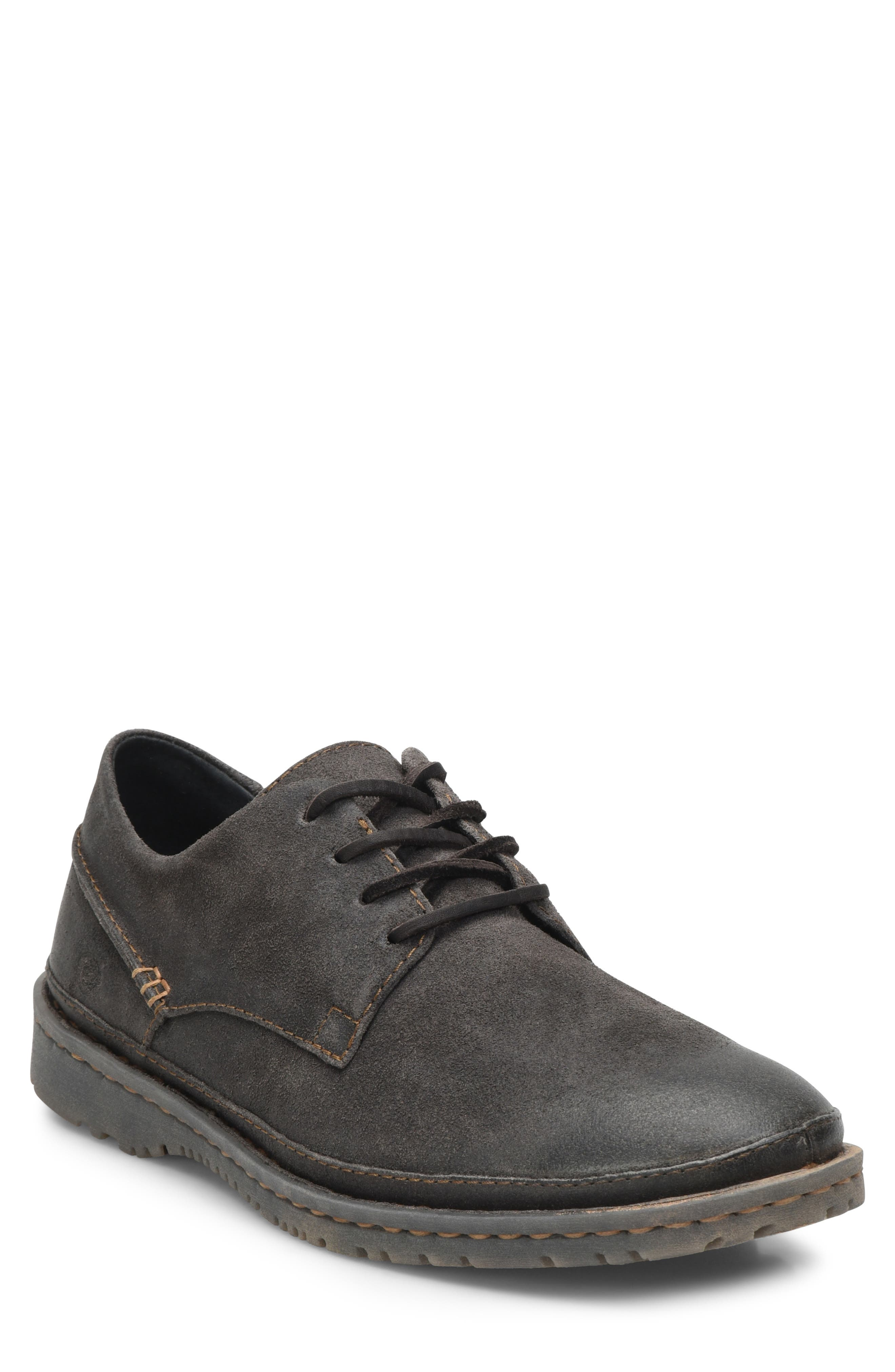 Gilles Plain Toe Derby,                             Main thumbnail 1, color,                             DARK GREY LEATHER