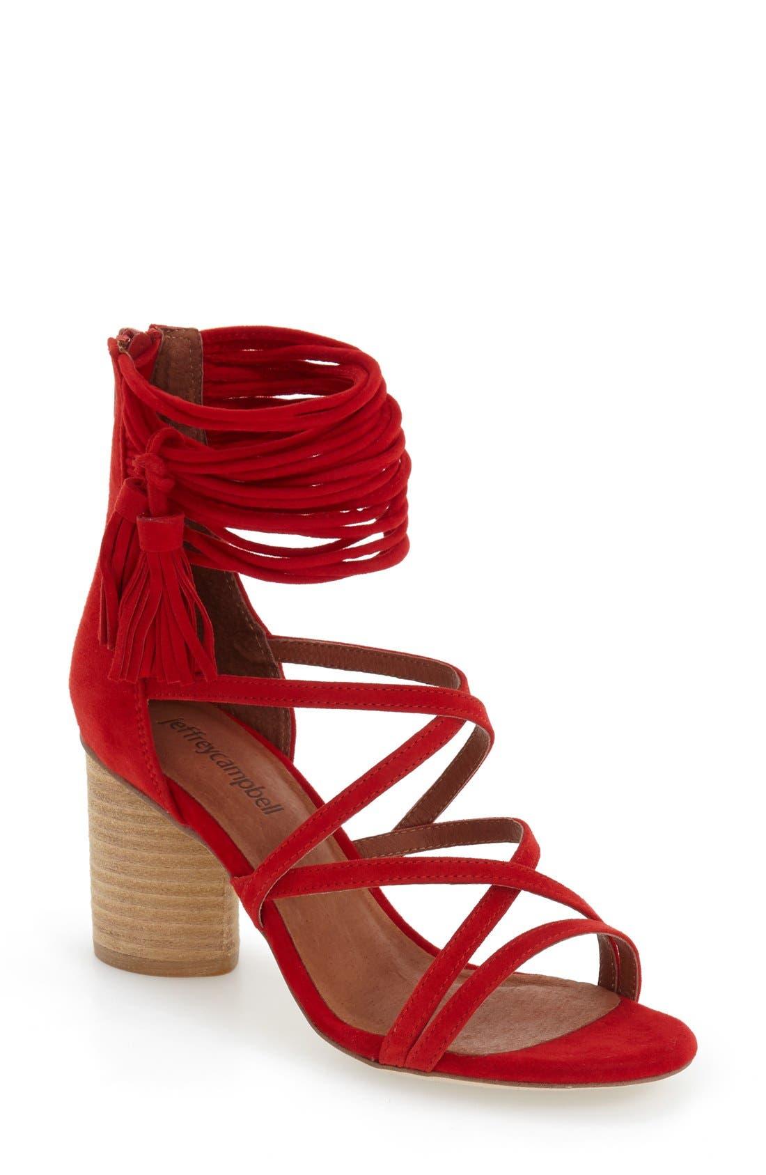 'Despina' Strappy Sandal,                             Main thumbnail 7, color,